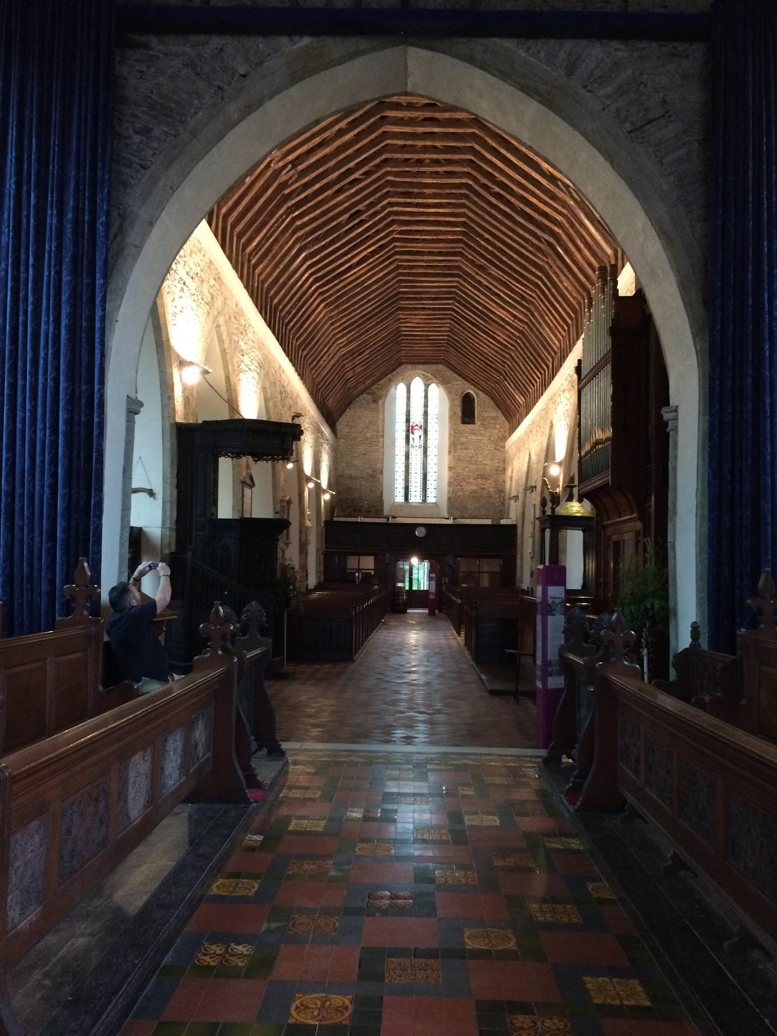 800 year old original ceiling