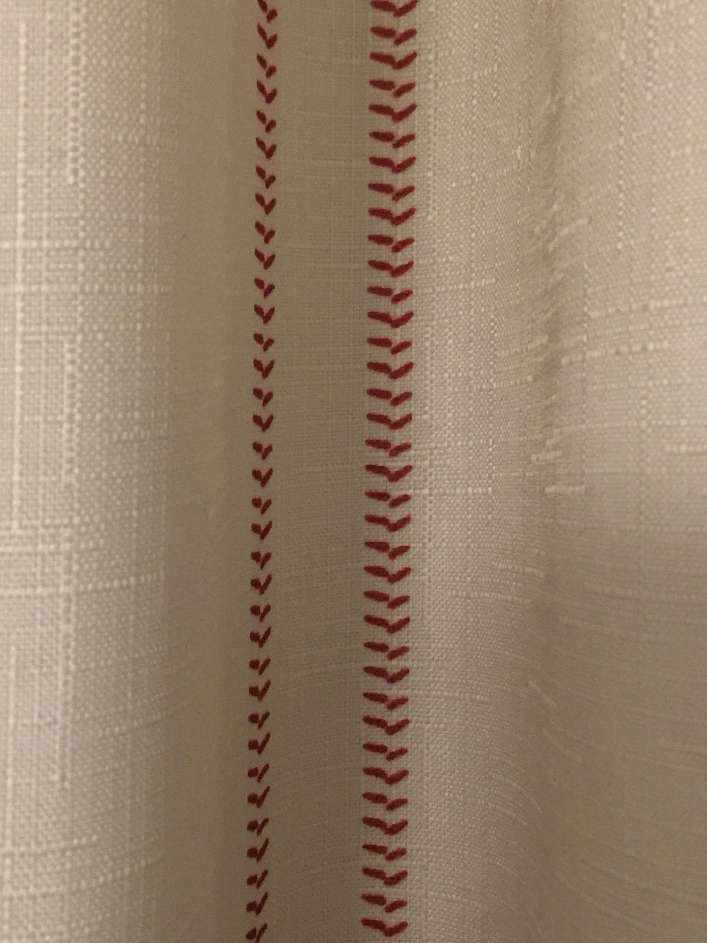 Curtains in room