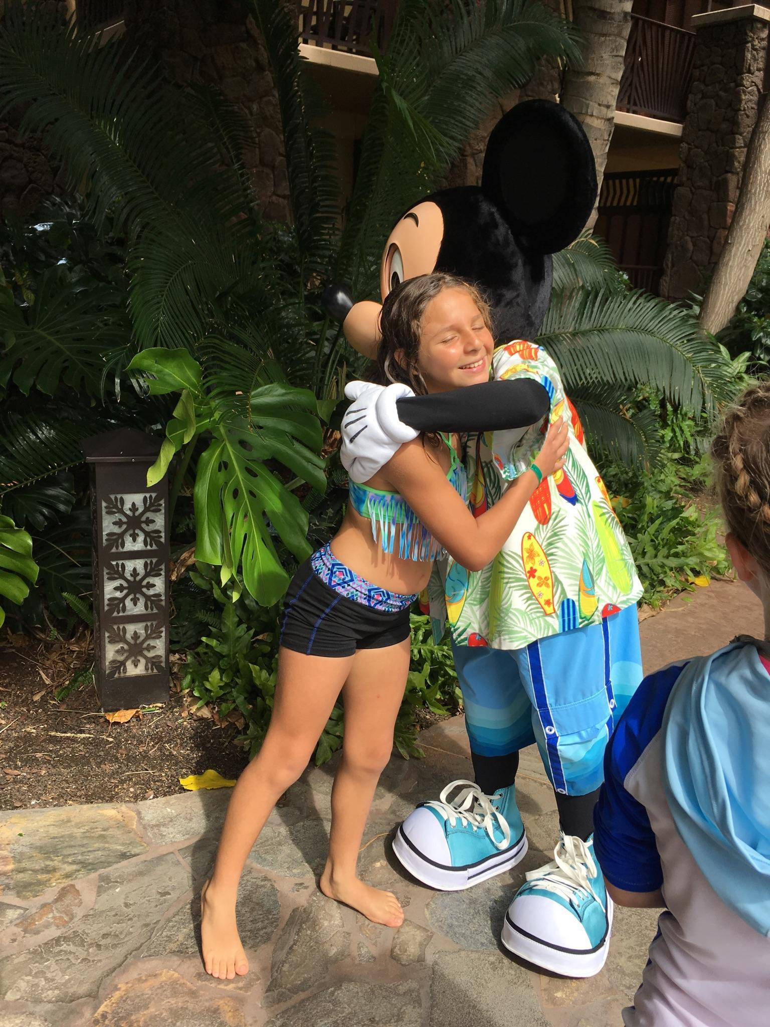 Sophia gets a hug!
