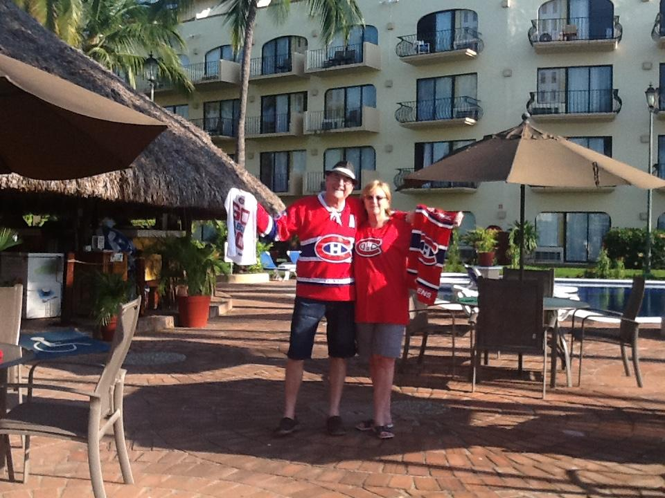 Canadian fans in PV