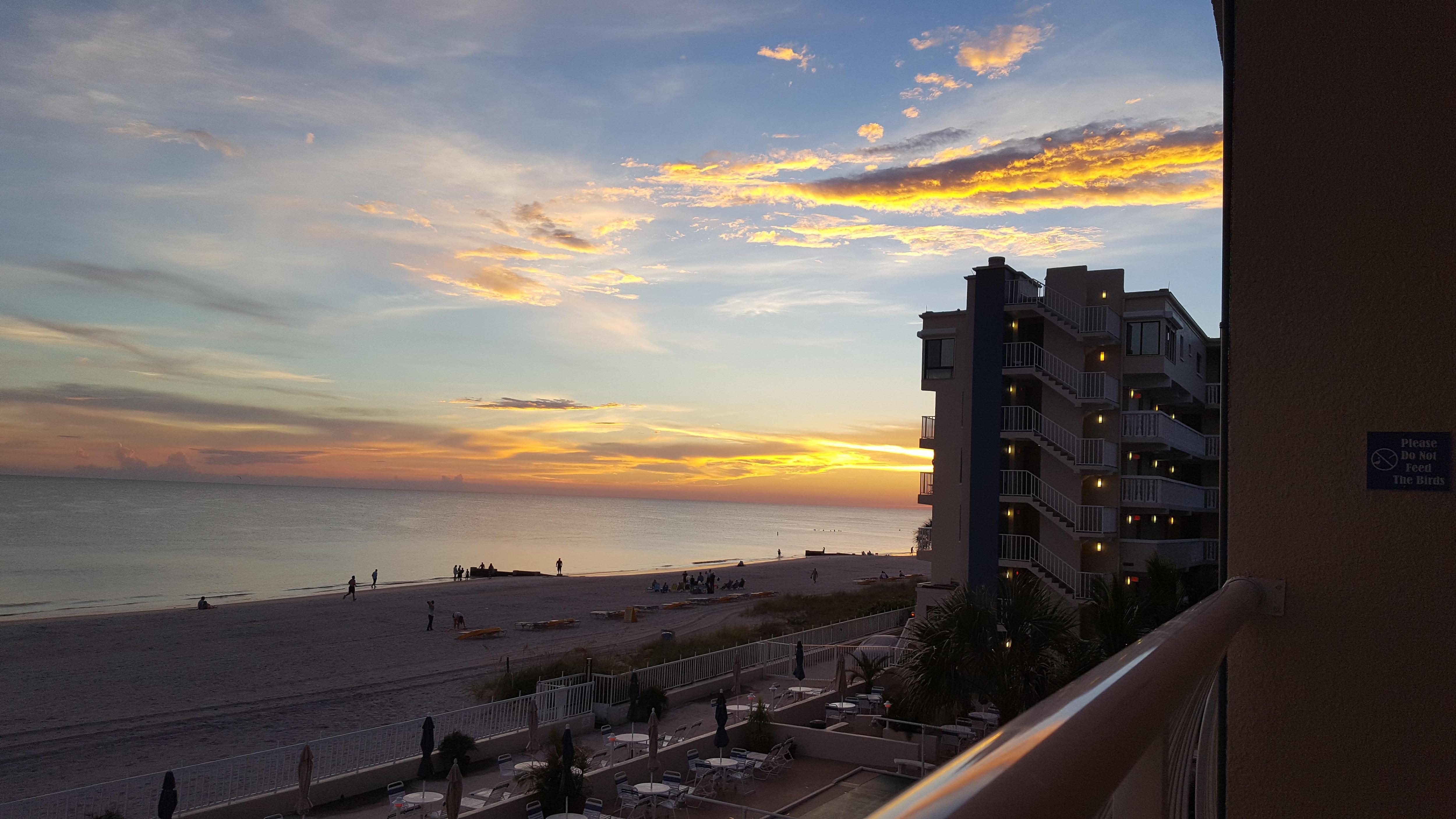 Sunset off balcony