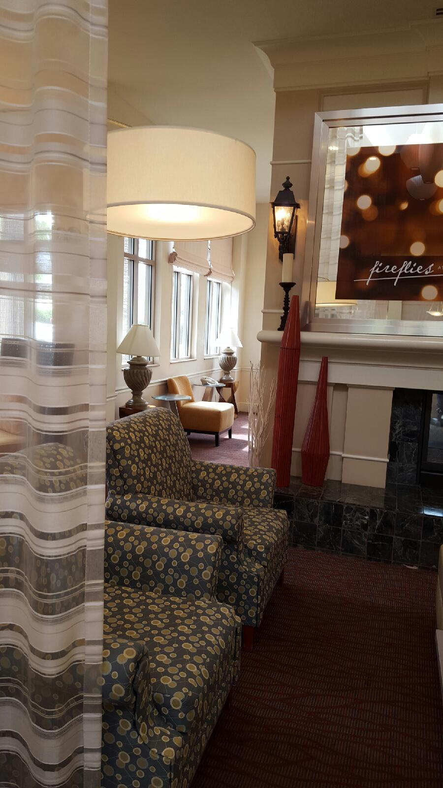 Comfy chairs in the lobby