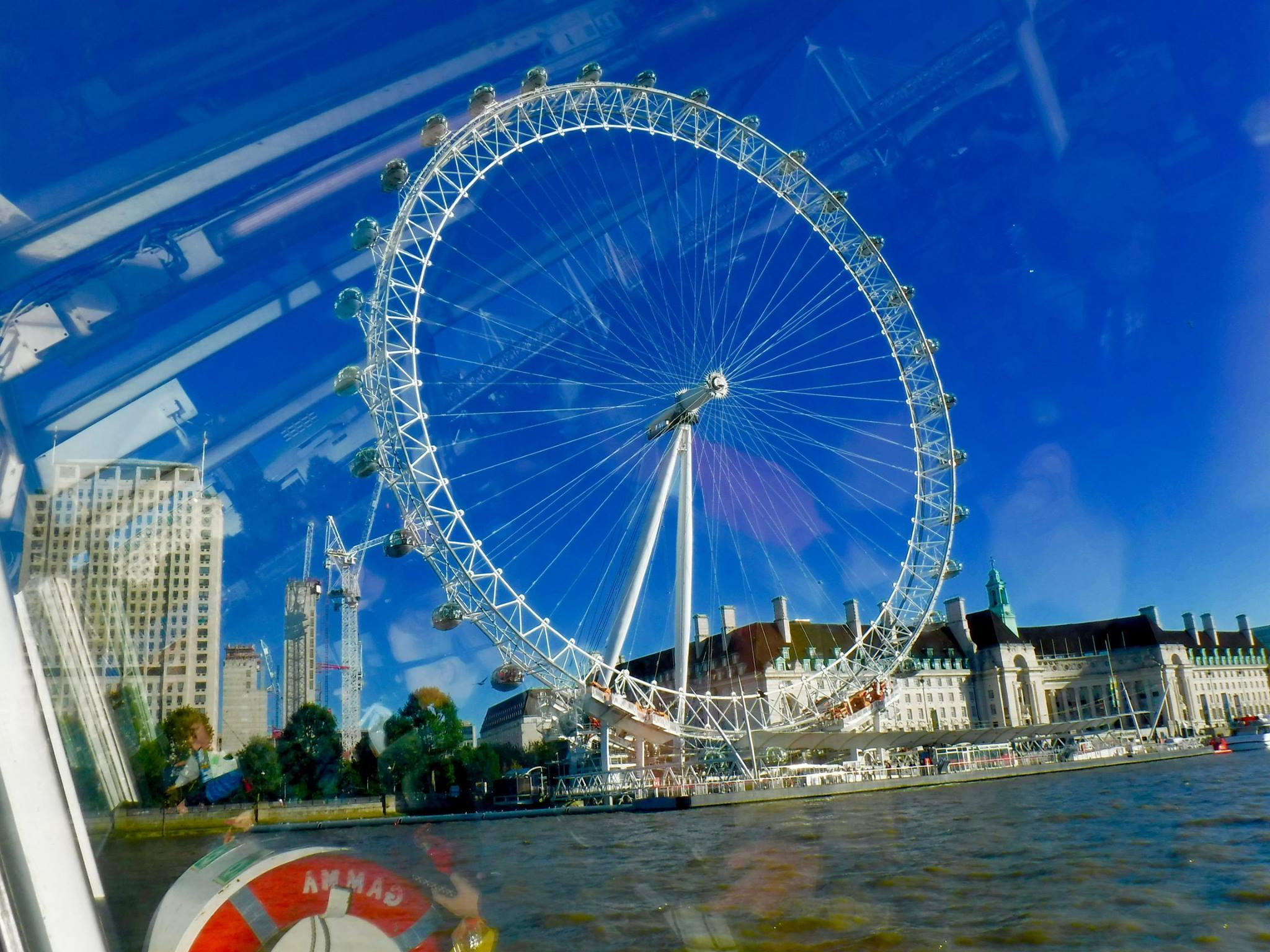 Your view from the top of the London Eye