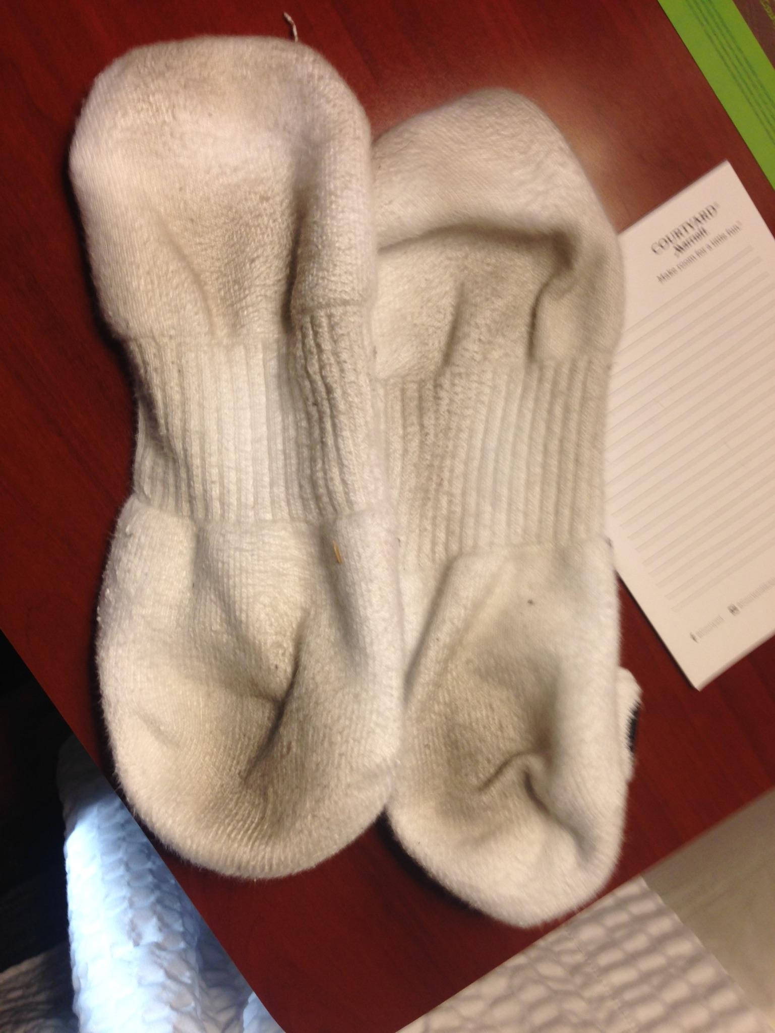 My sox after making coffee shoeless in my room