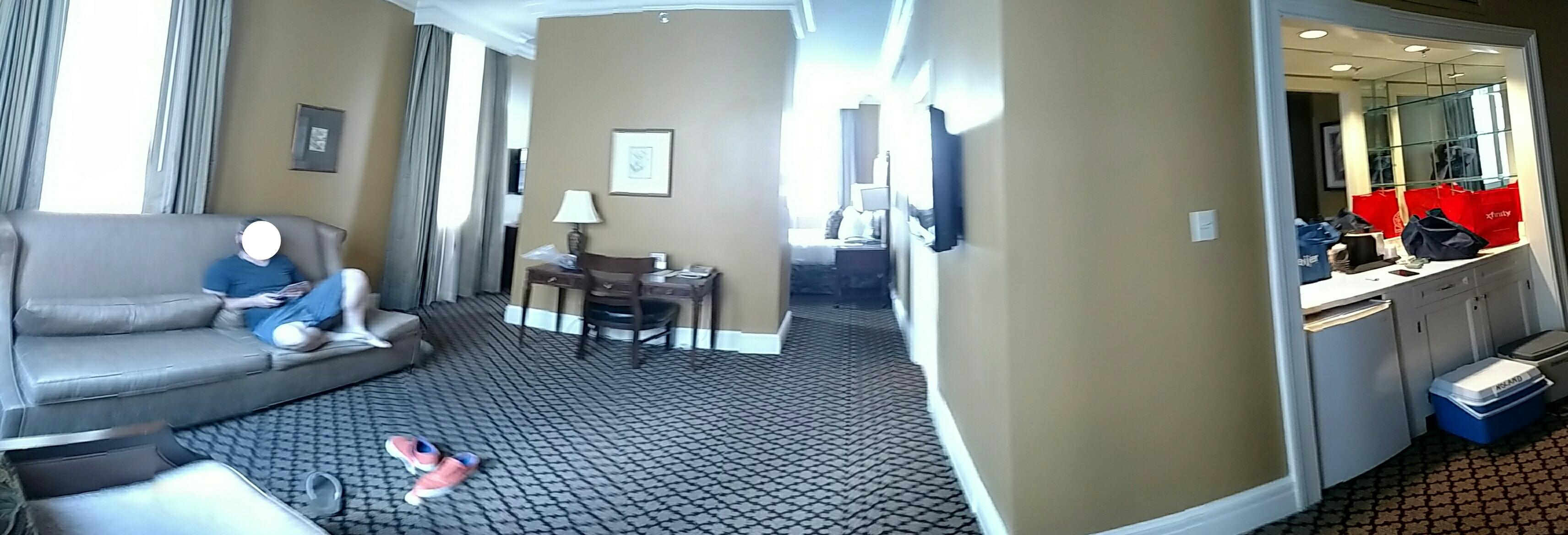 Two room suite.