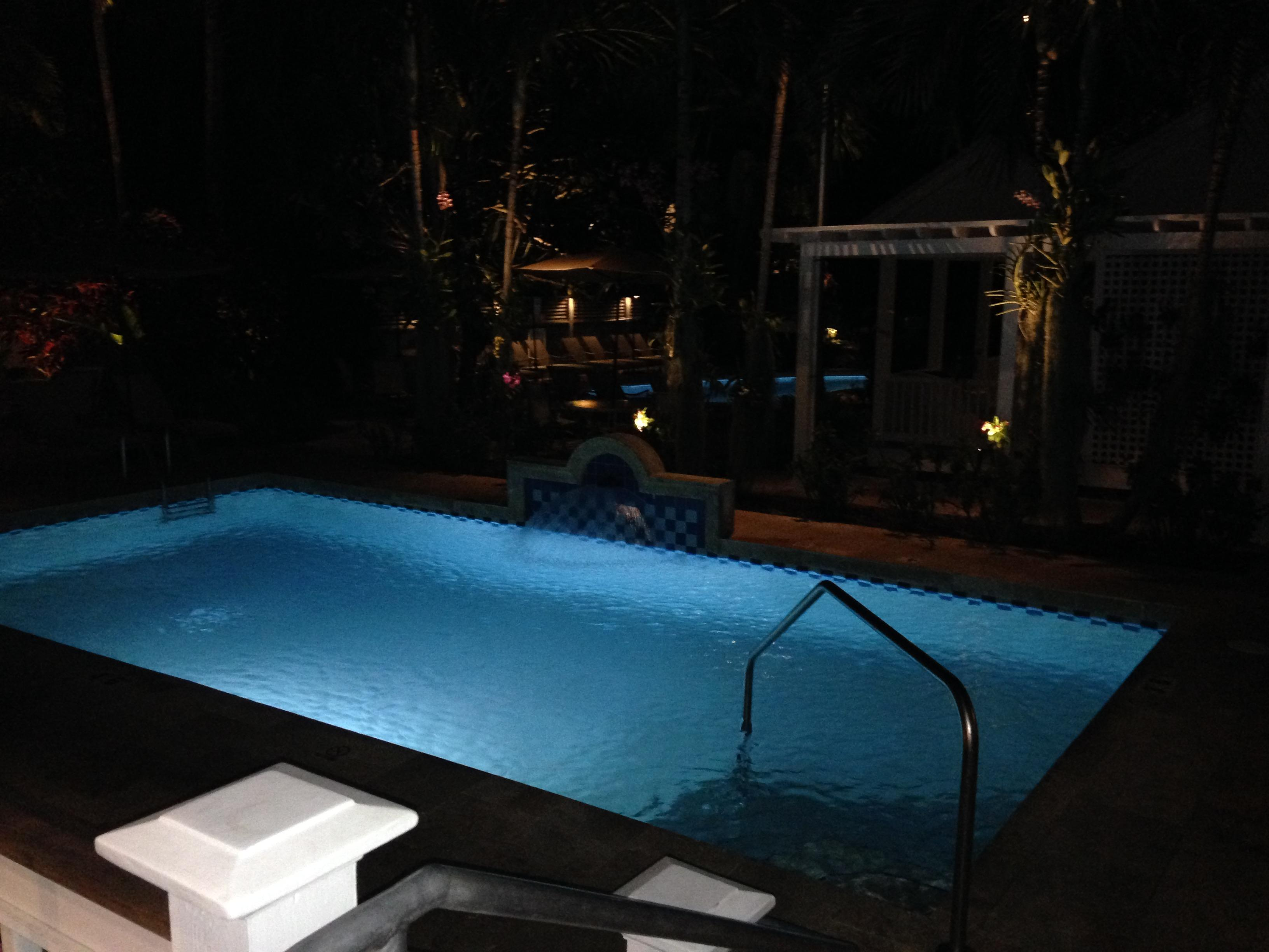 Great pool. If you stay quiet, they will let you use it at night.