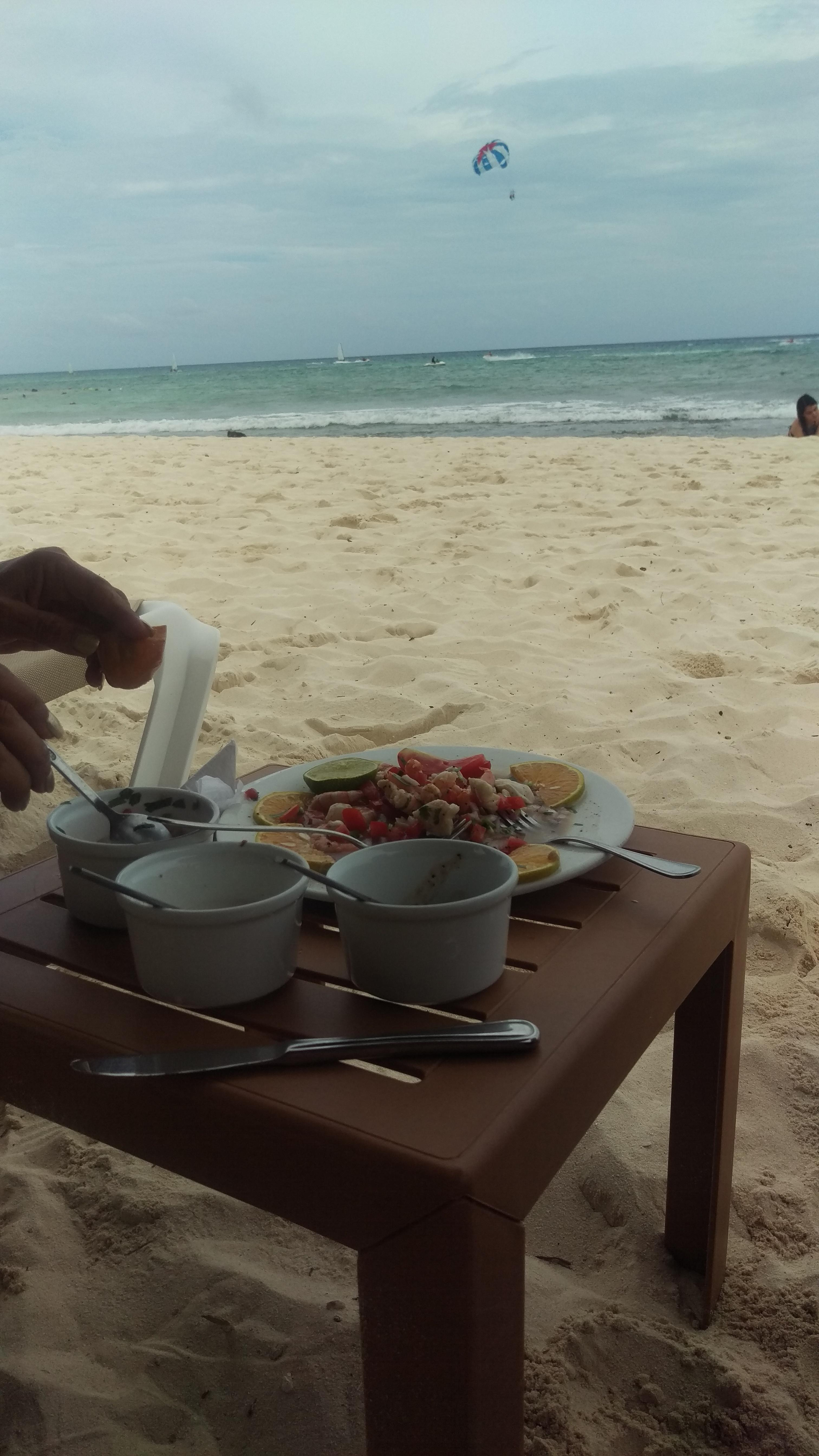 Lunch delivered on the beach!