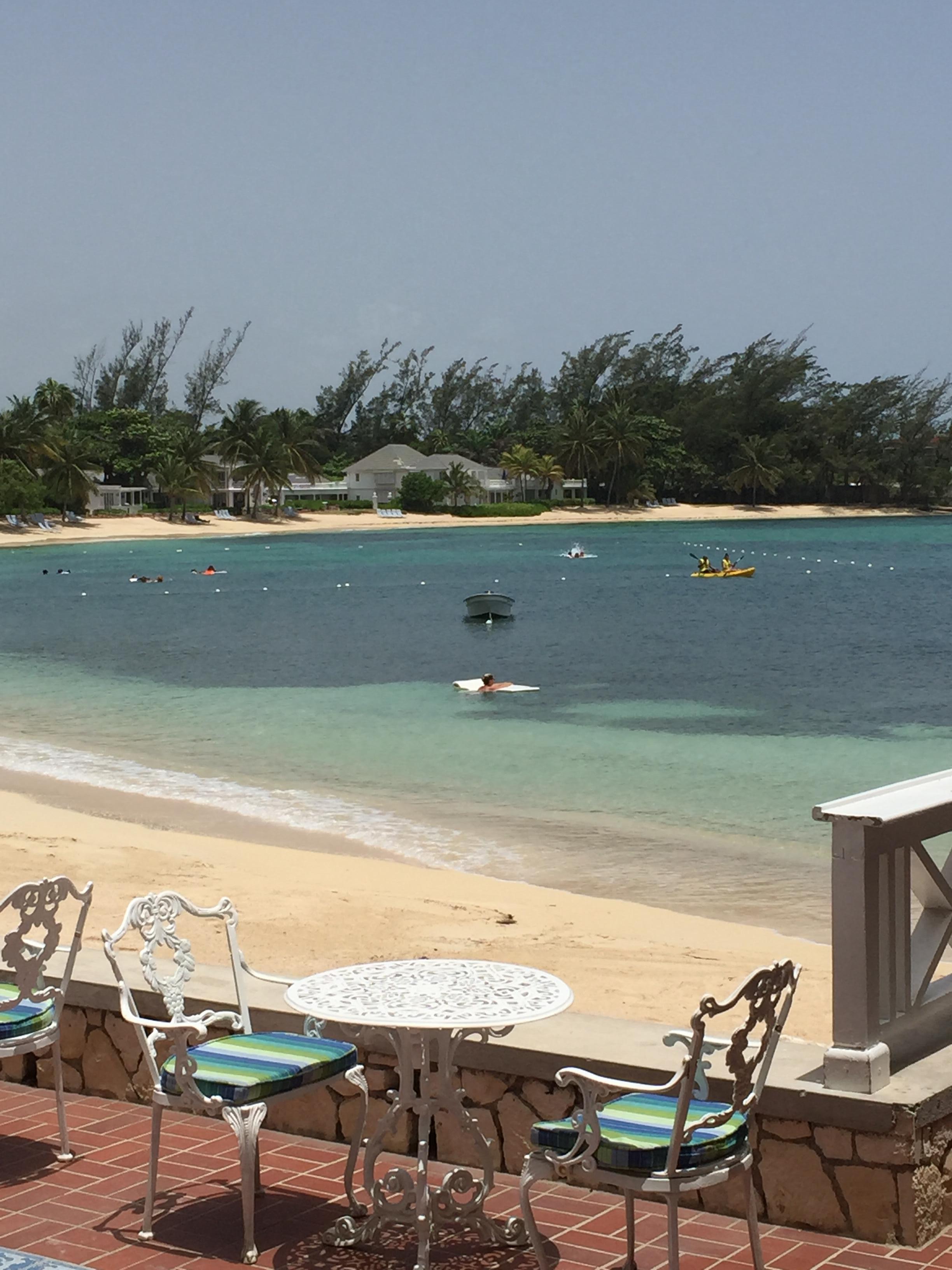 Very private beach area