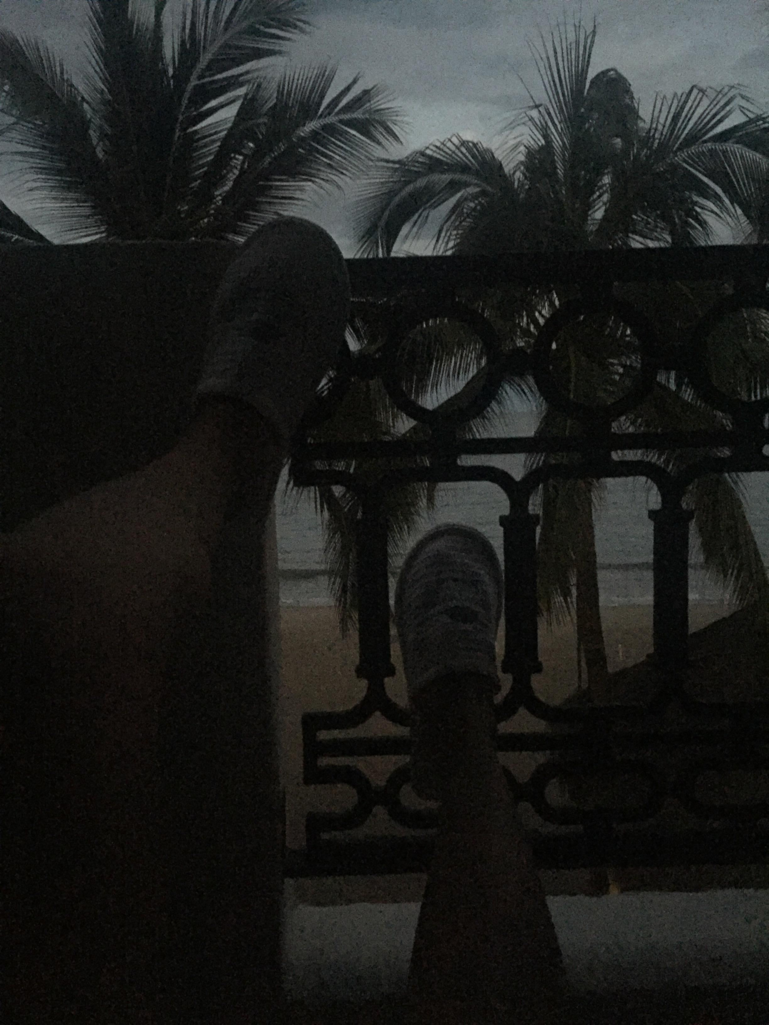 Chilling on the balcony in my room