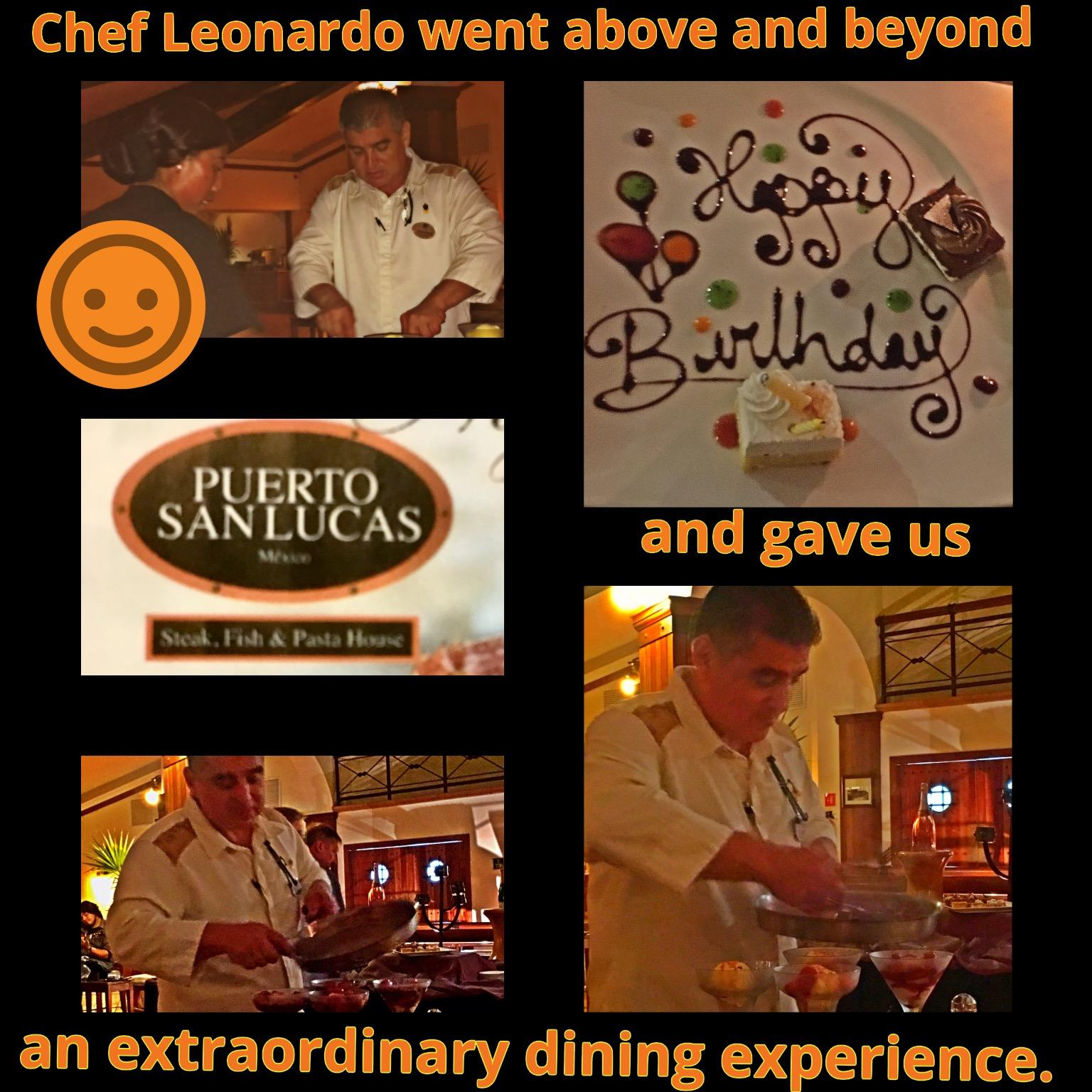 Puerto San Lucas with Chef Leonardo is the Best Restaurant and Chef of Playa Grande Resort & Grand Spa
