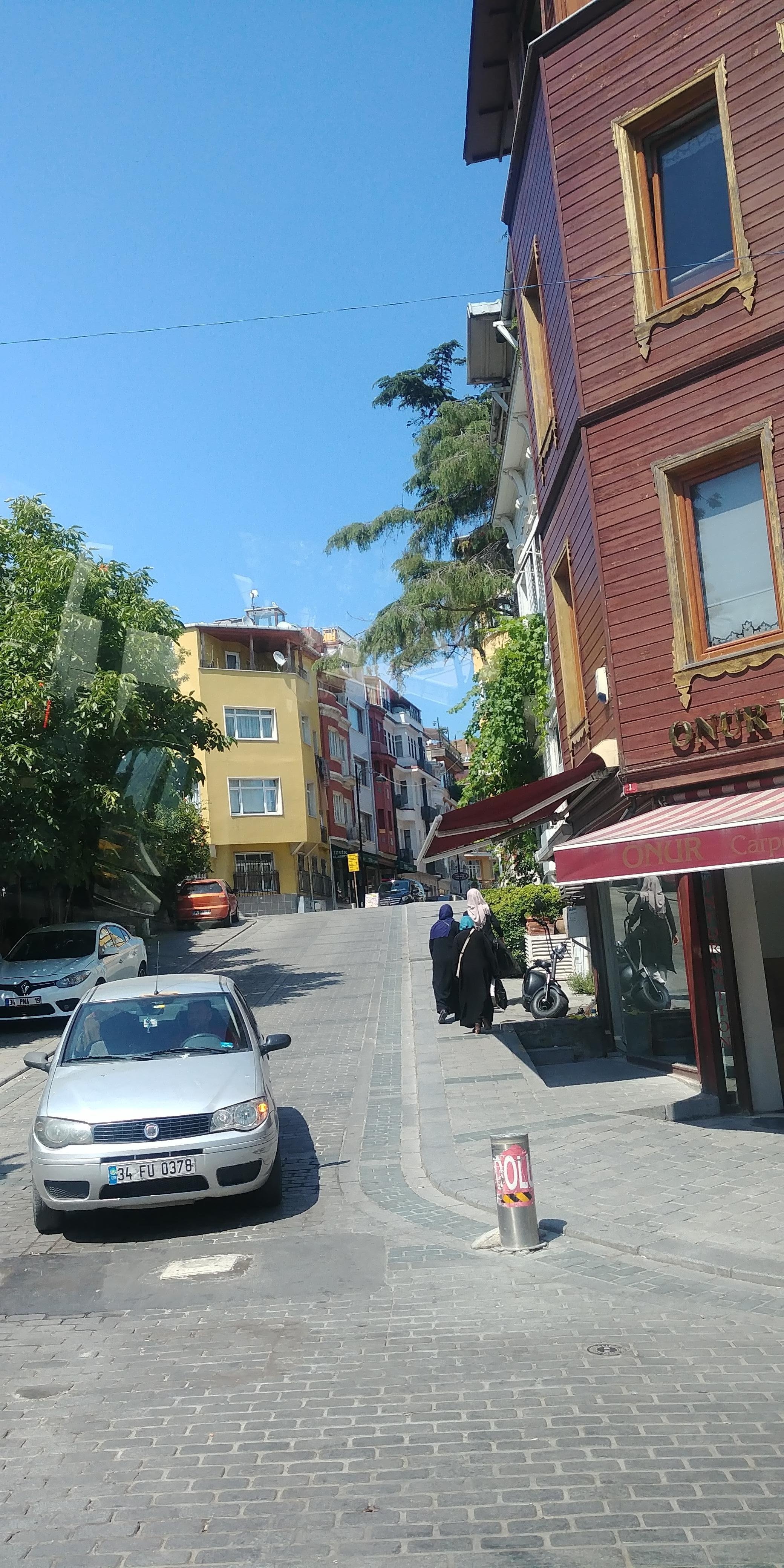 Street in front of hotel