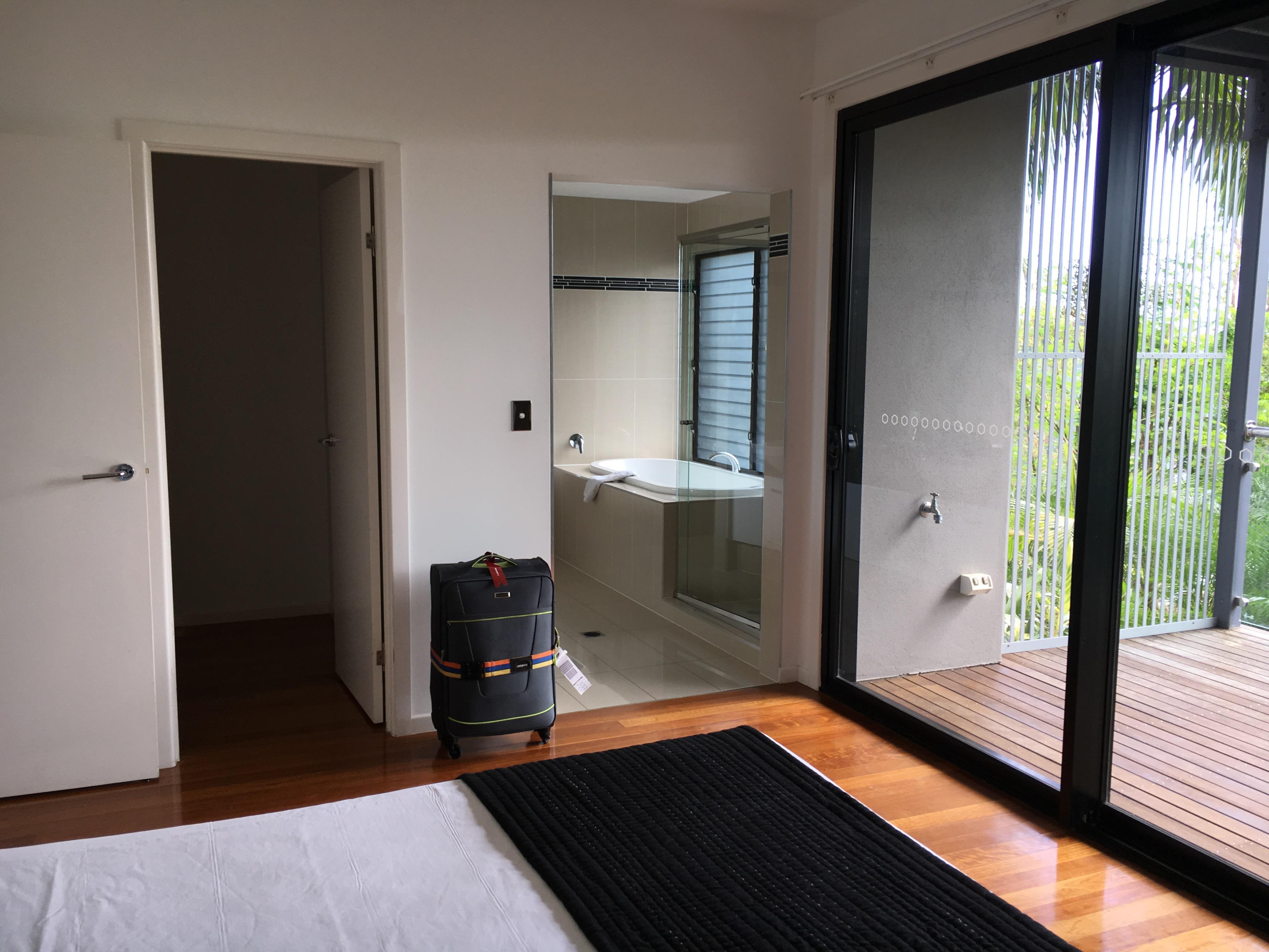 Downstairs Main bedroom and Balcony