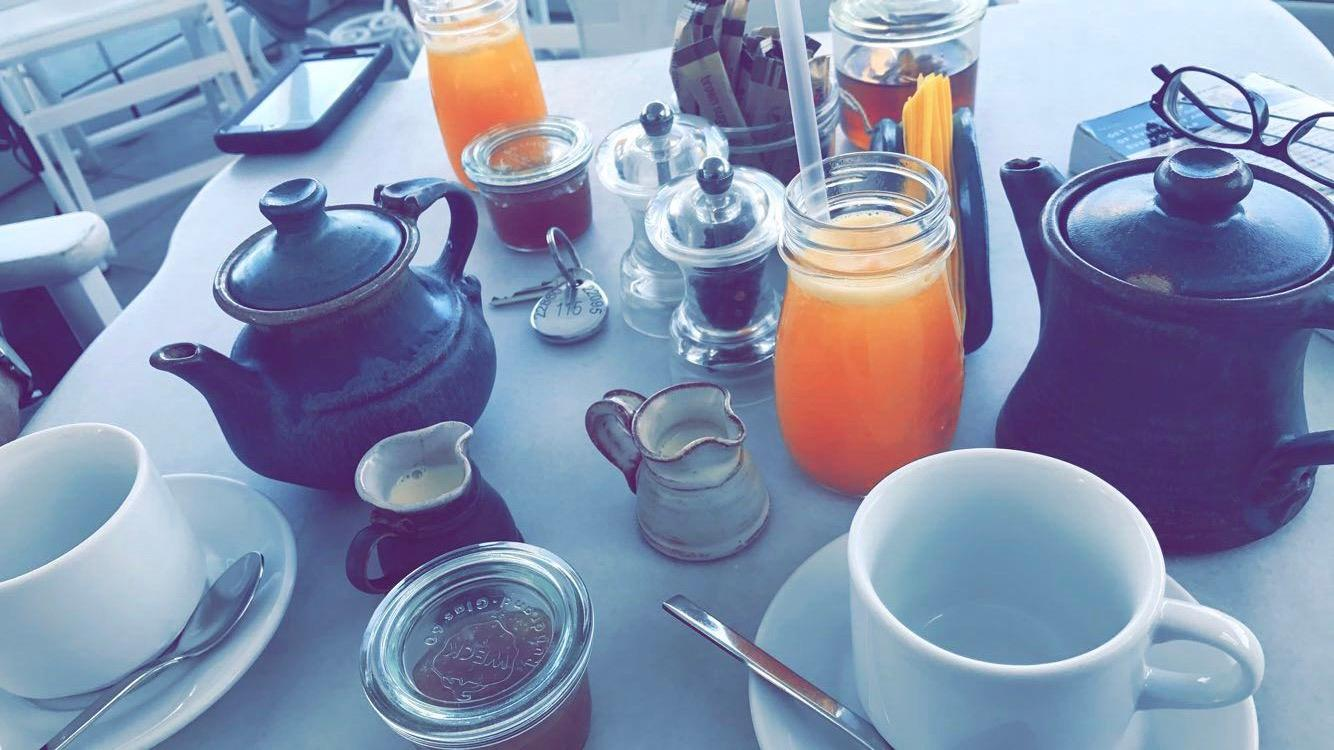 Beverages at breakfast