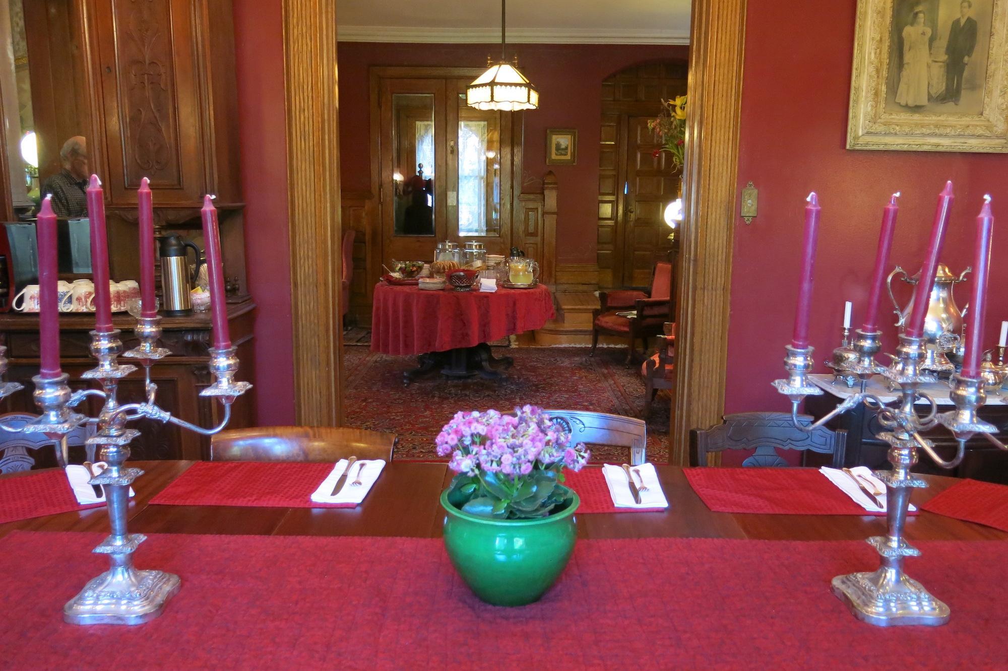 Formal Dining Room set for Breakfast