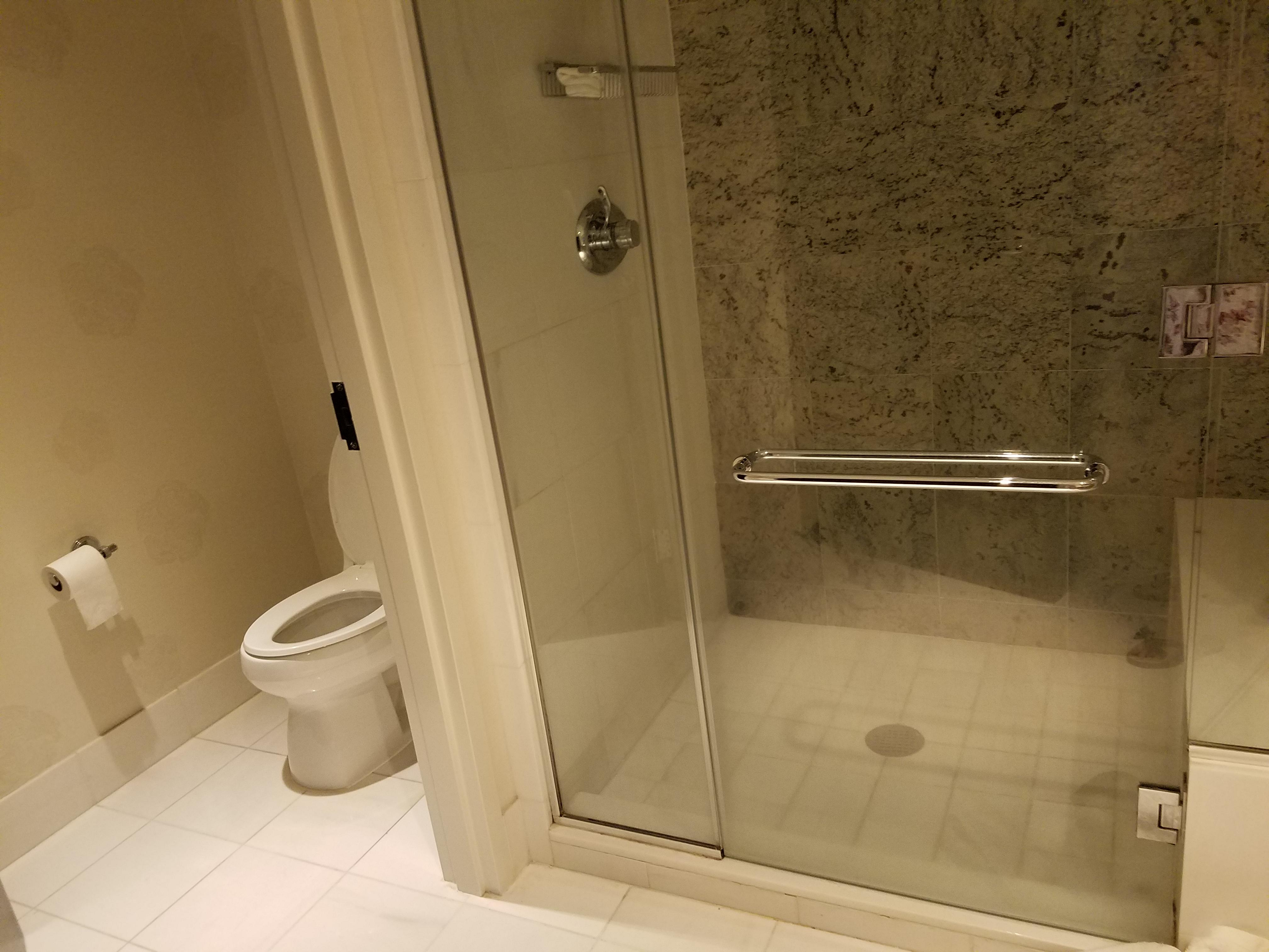 shower and bathroom seperated