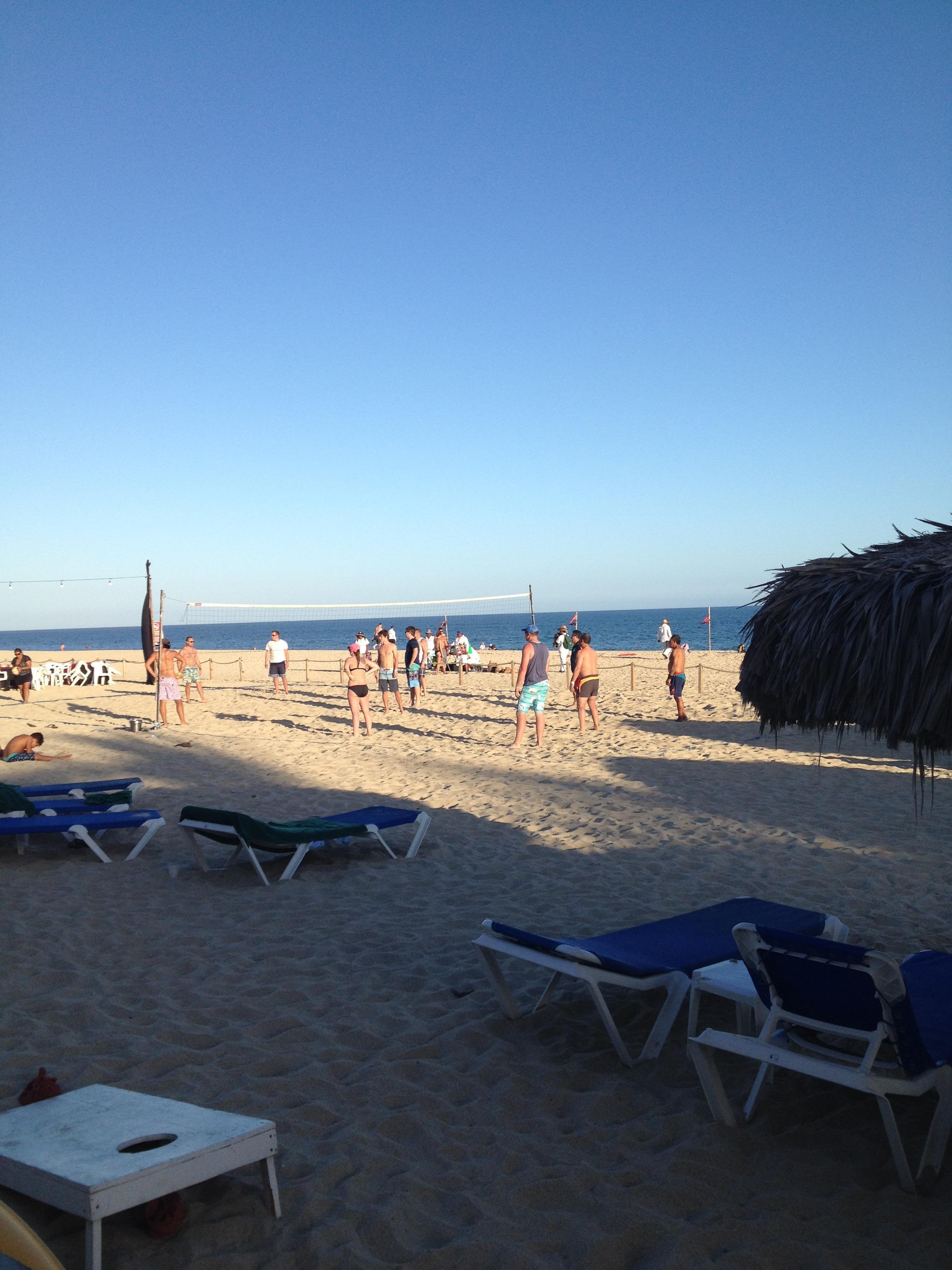 Beach bar at sundown