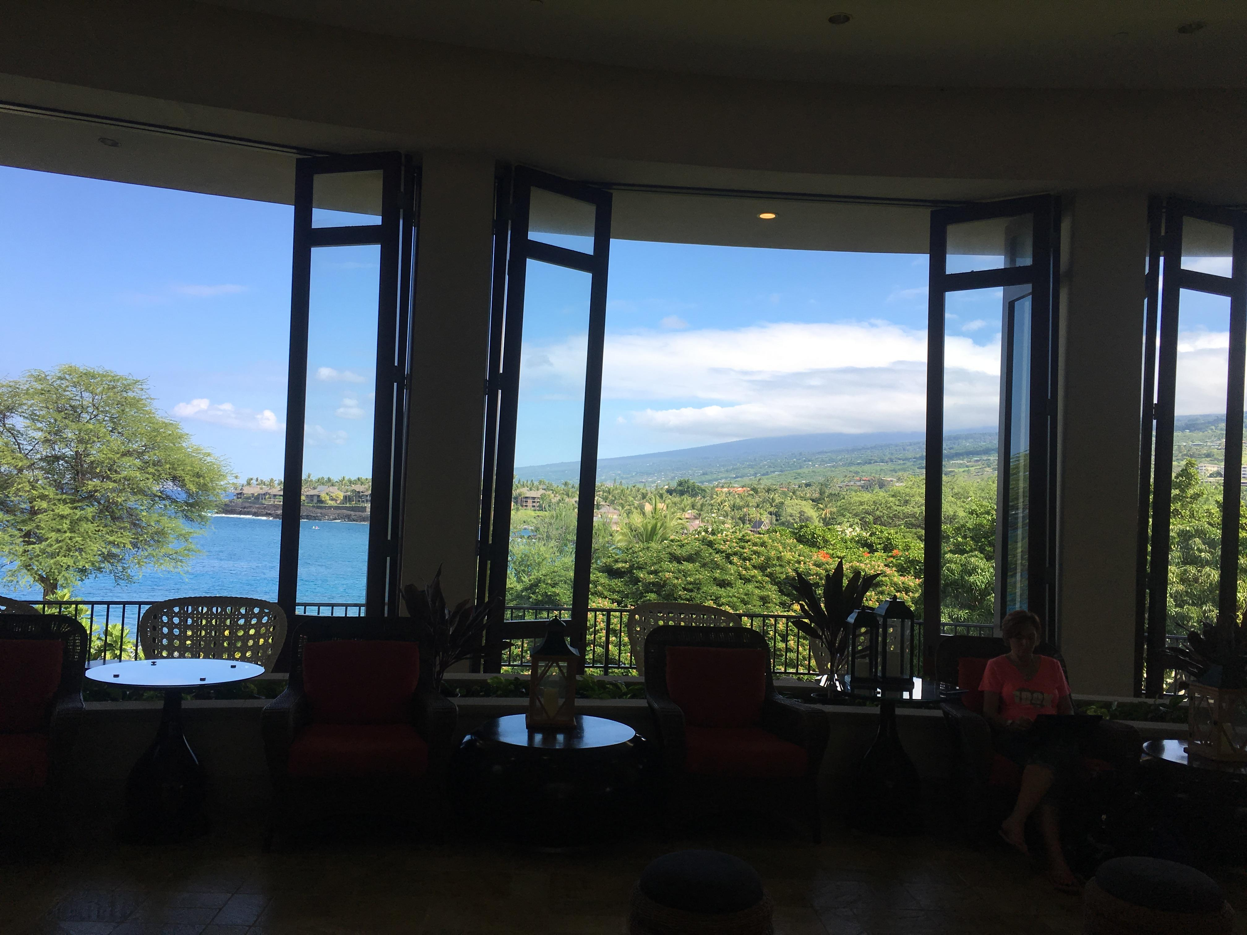 View from the front lobby