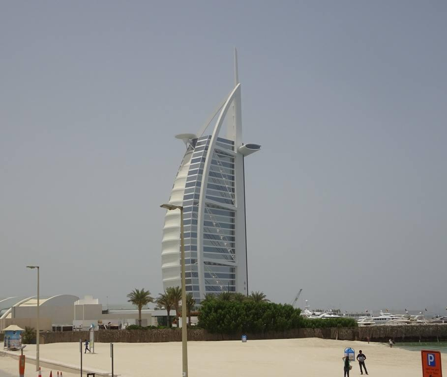 The Burj Al-Arab, the only 7-star hotel in the world