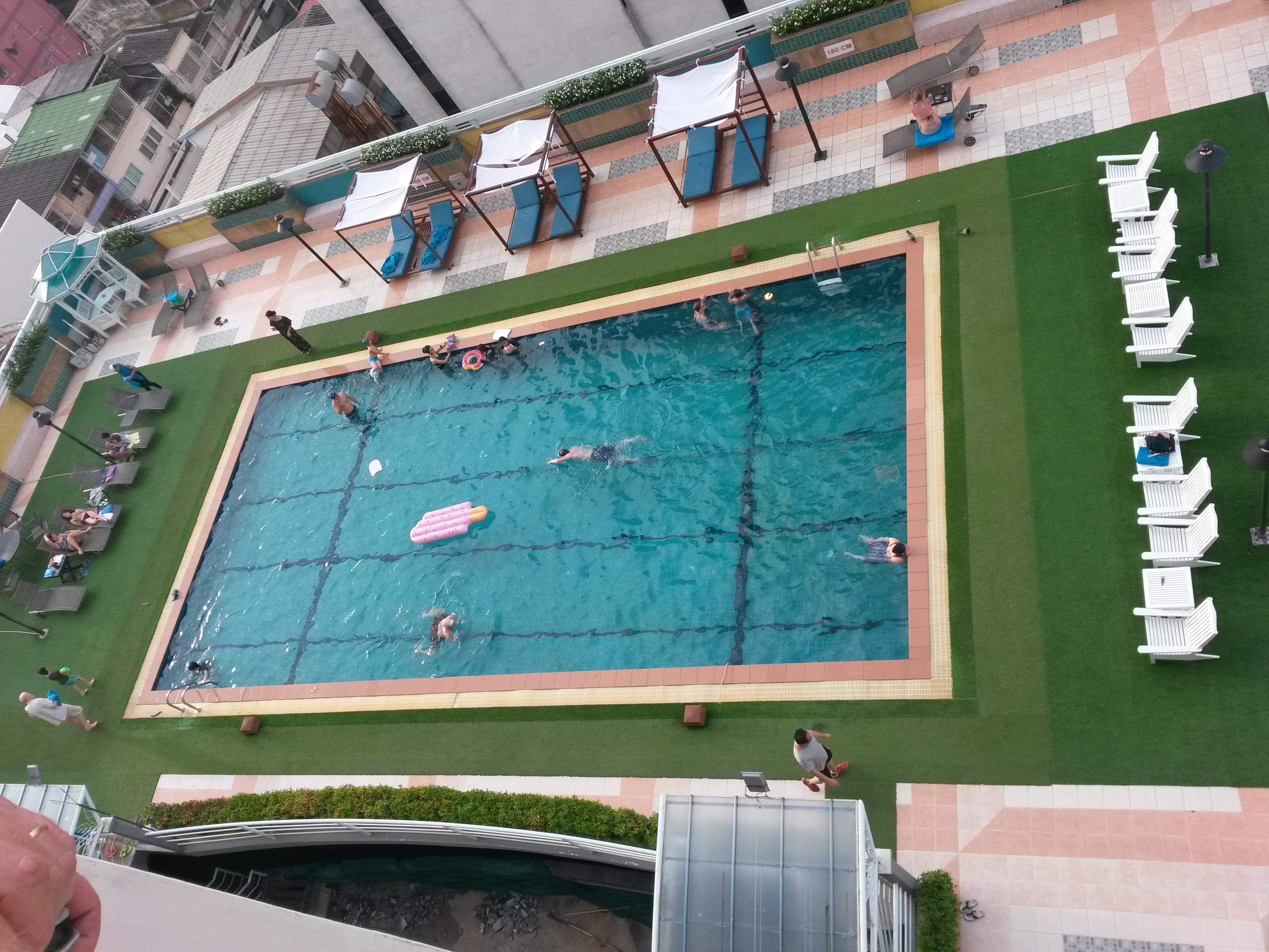 Pool view from 14th floor