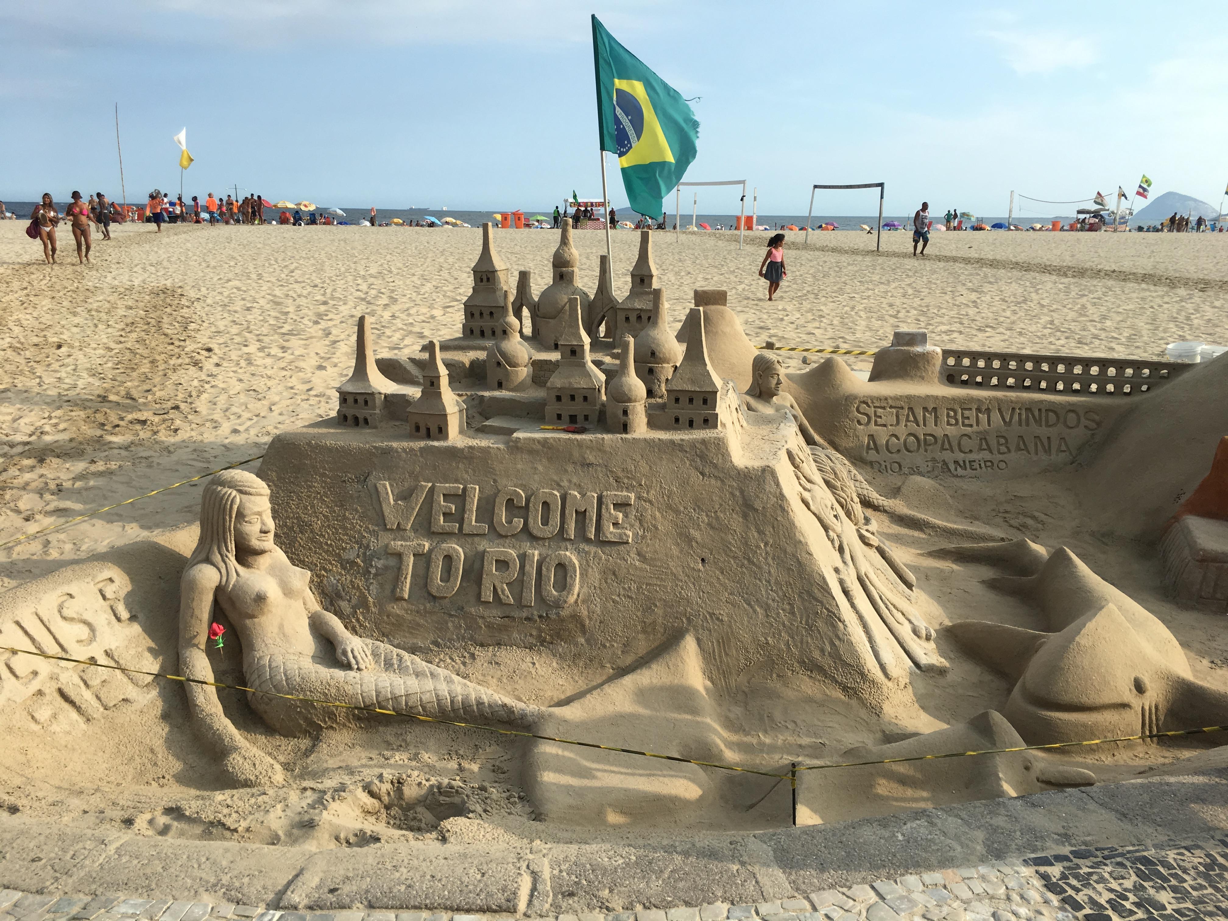 Copacabana sand sculpture