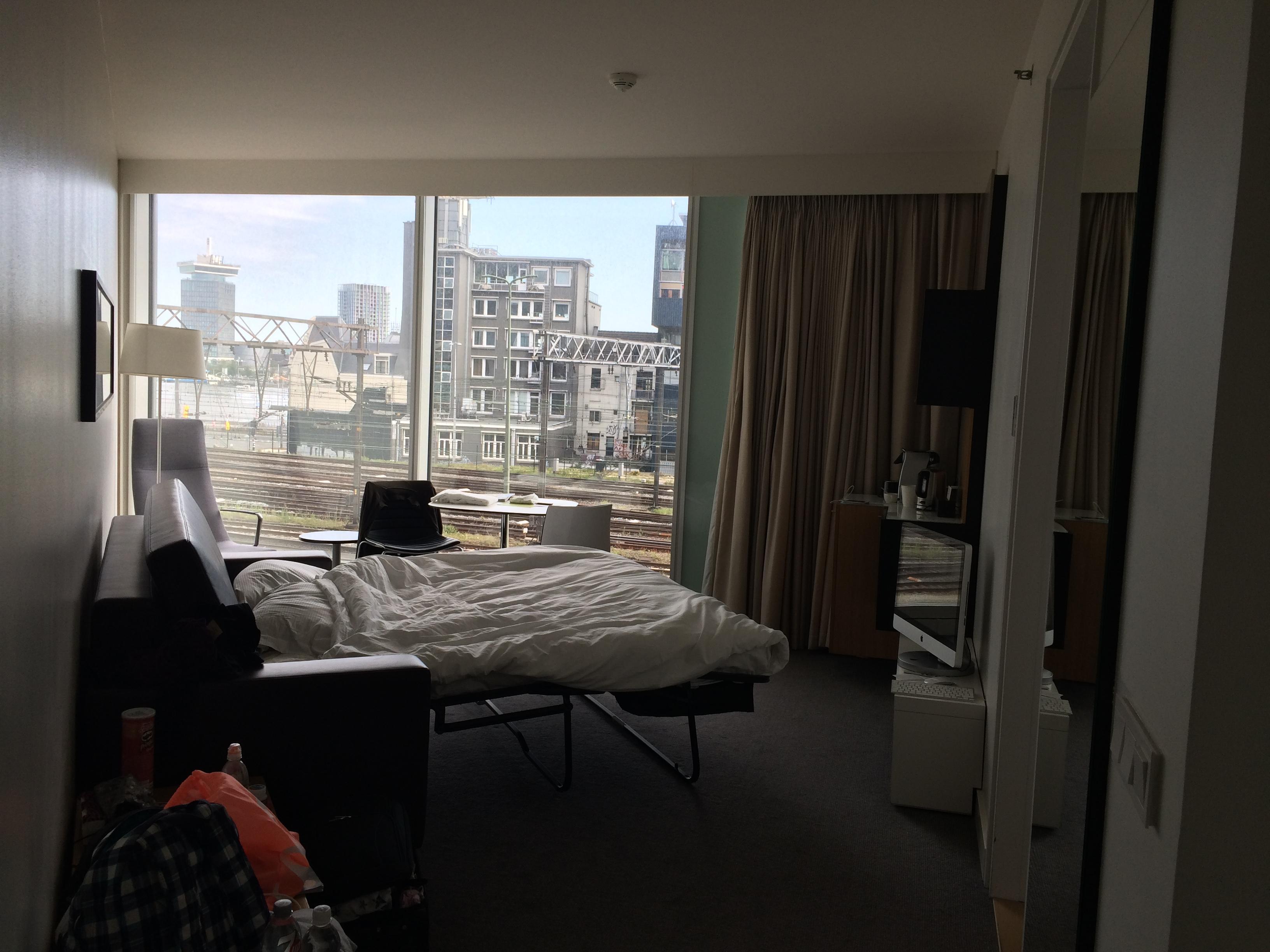 Aussicht vom Wohnzimmer mit Sofabett