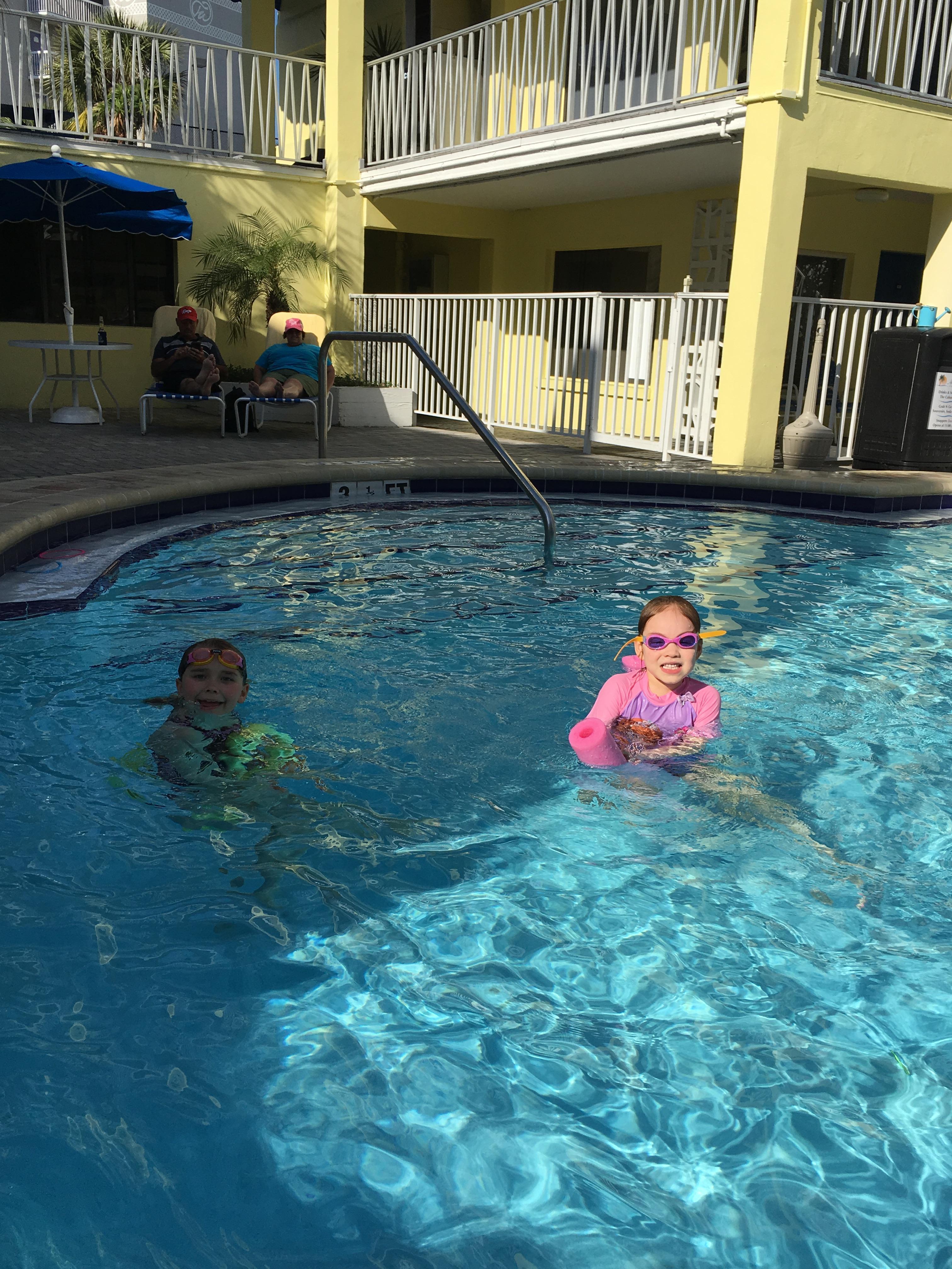 Clean, warm pools