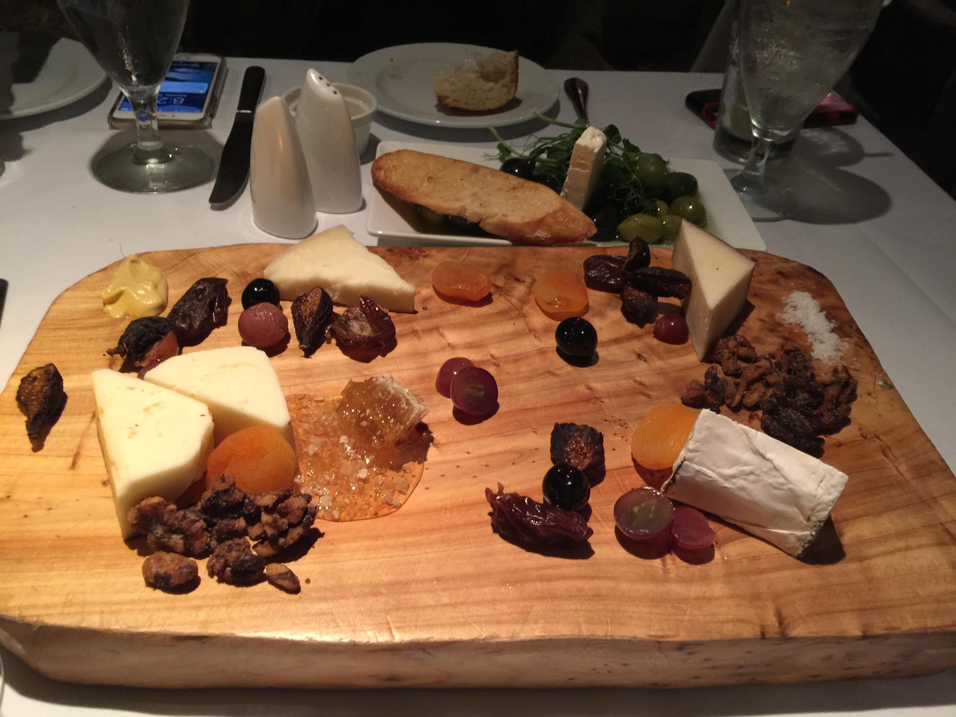 Cheese platter at HB