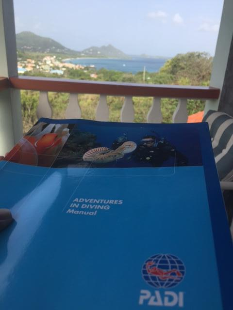 Studying Scuba Diving Lessons from my Private Balcony