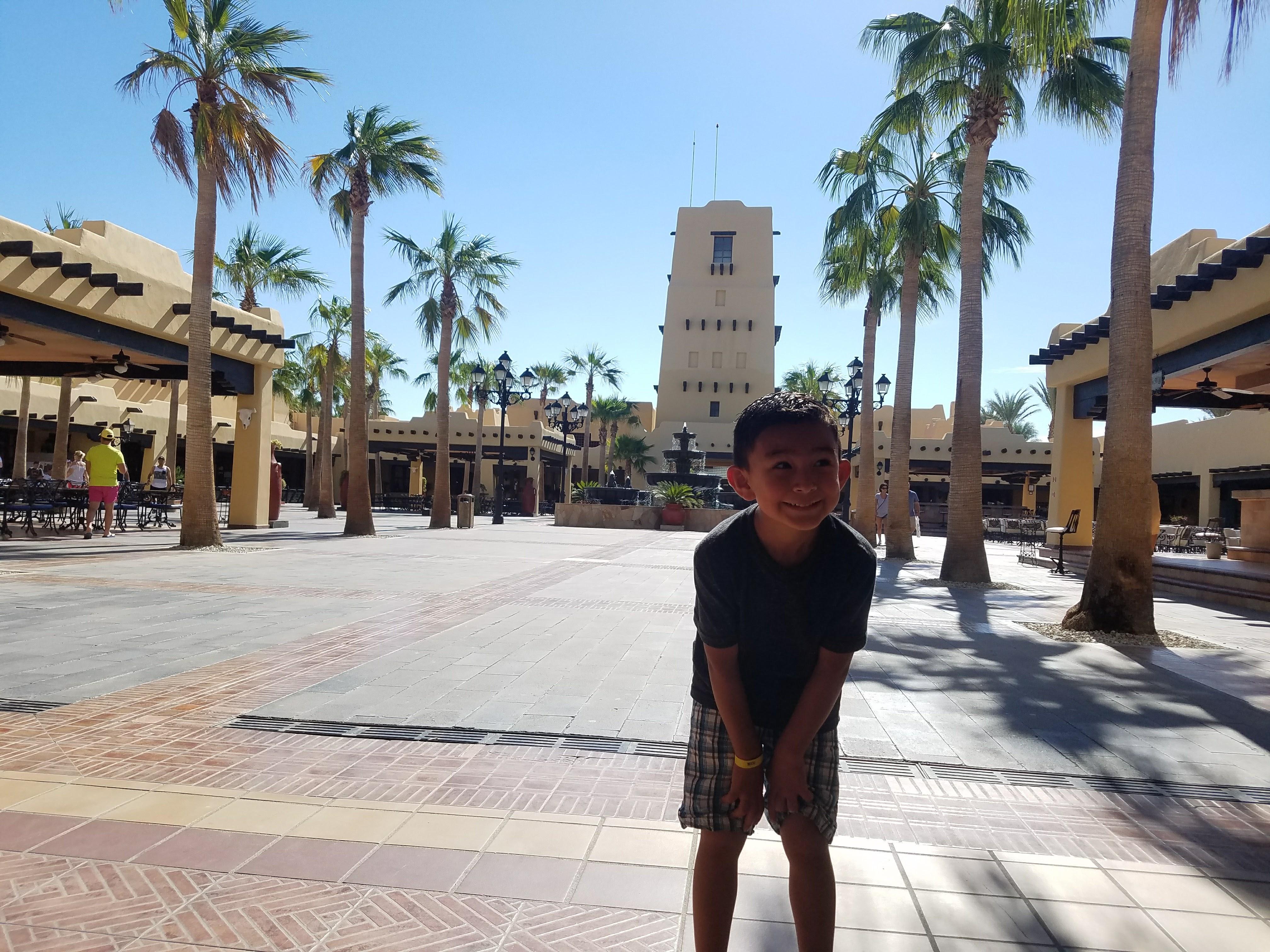 Main plaza at the hotel.