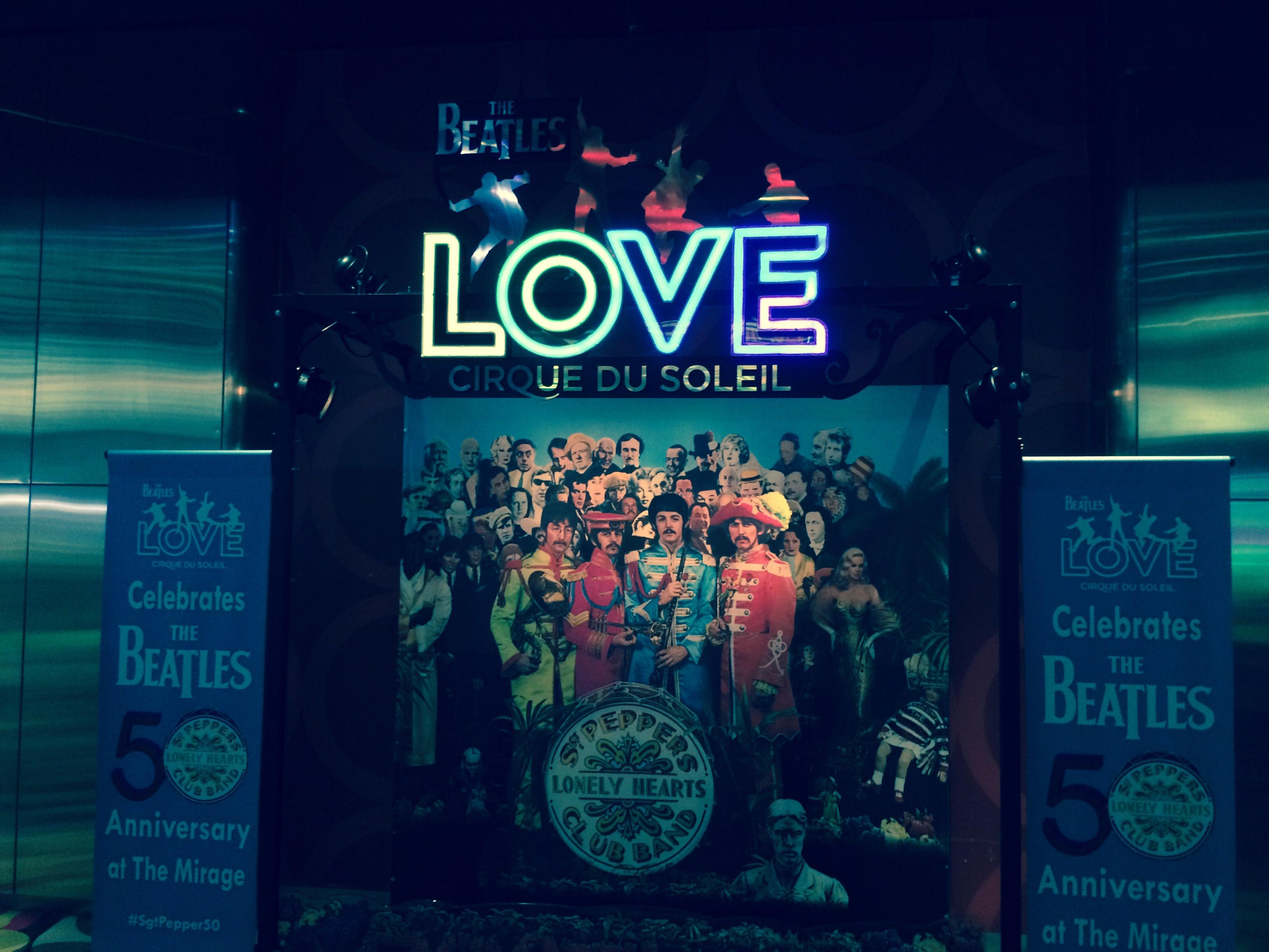 Entrance to the Love Show in The Mirage Lobby