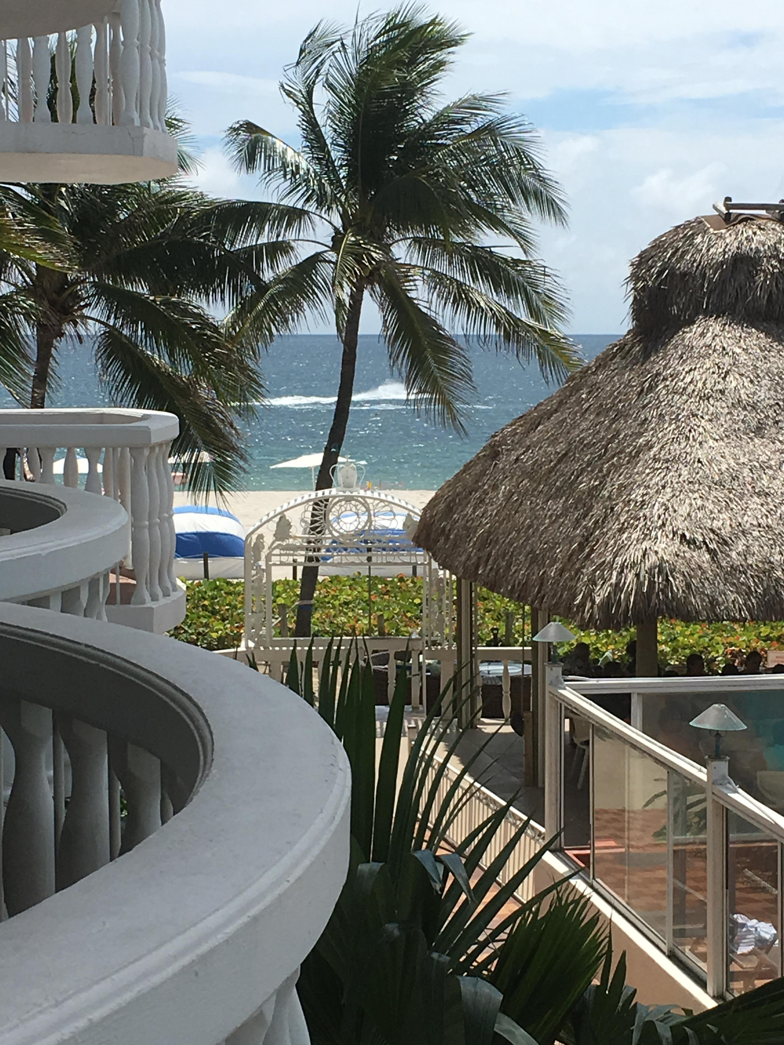 View from our Ocean view room.