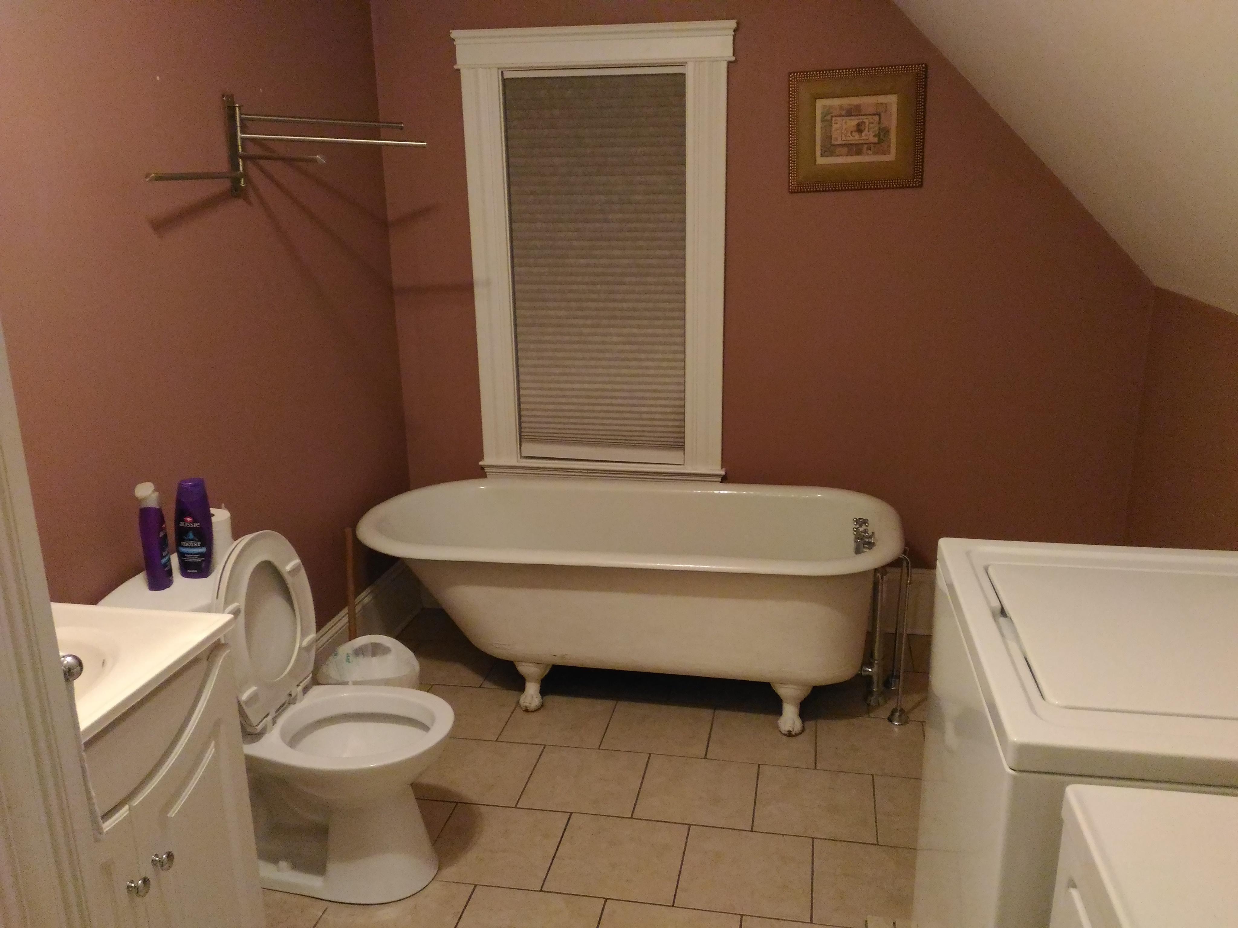 Bathroom, Laundry & Shower stall.