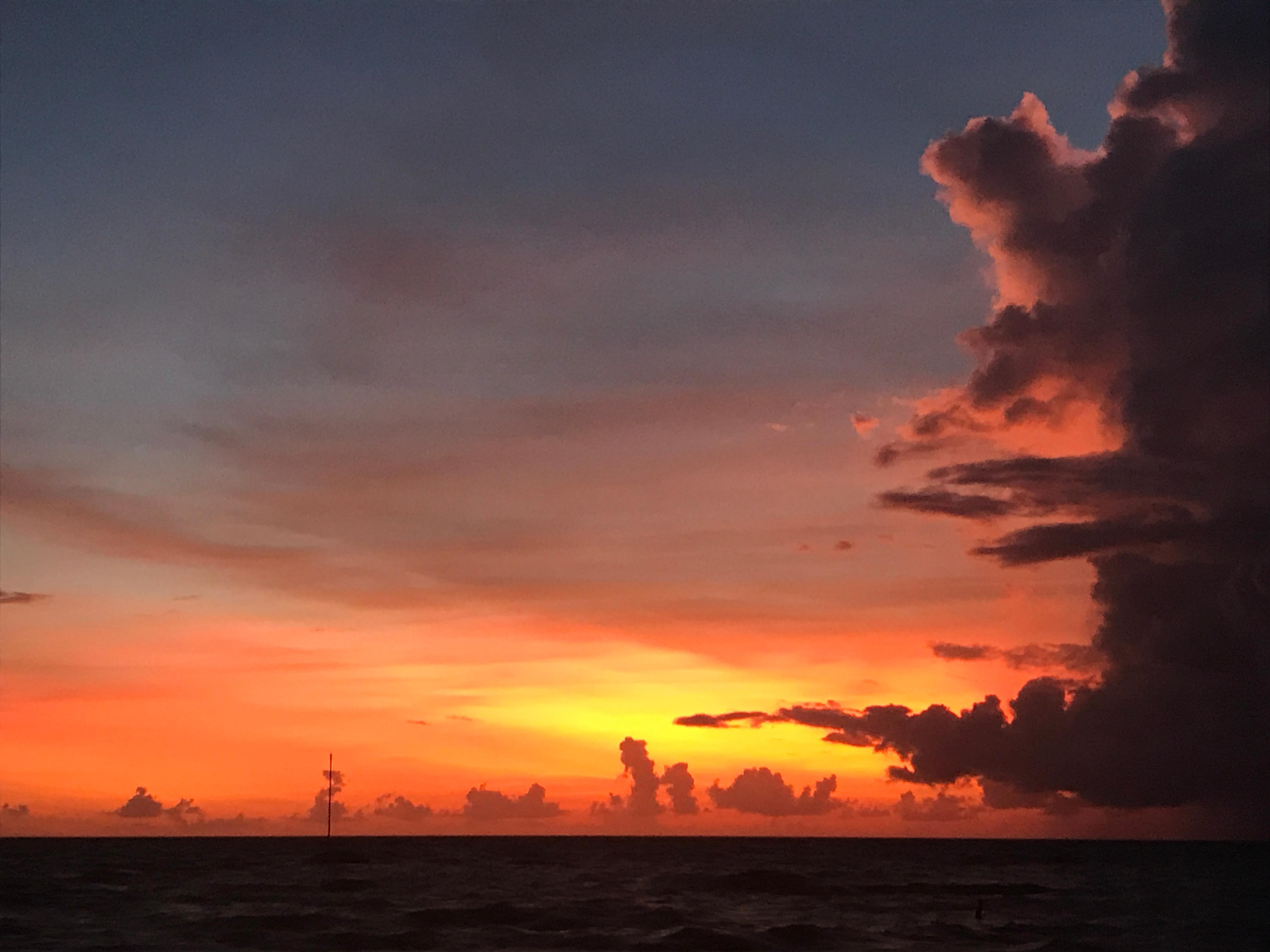 Irma triggered sunset ( missed island)