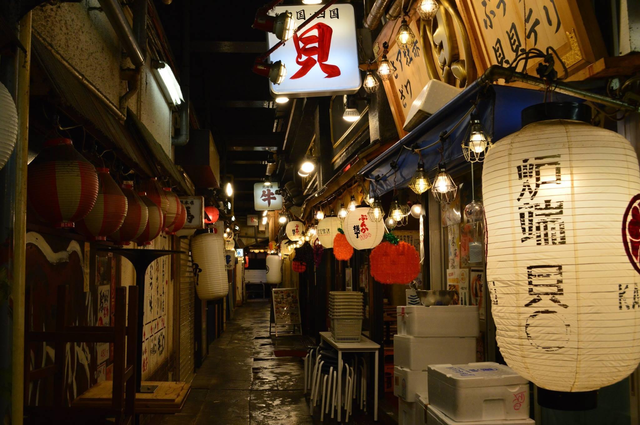 Ginza shopping area
