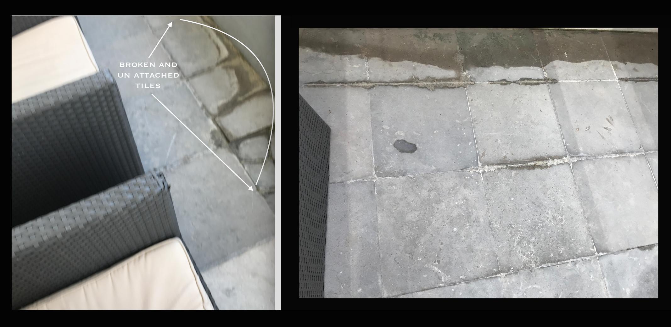 BROKEN dangerous patio tile