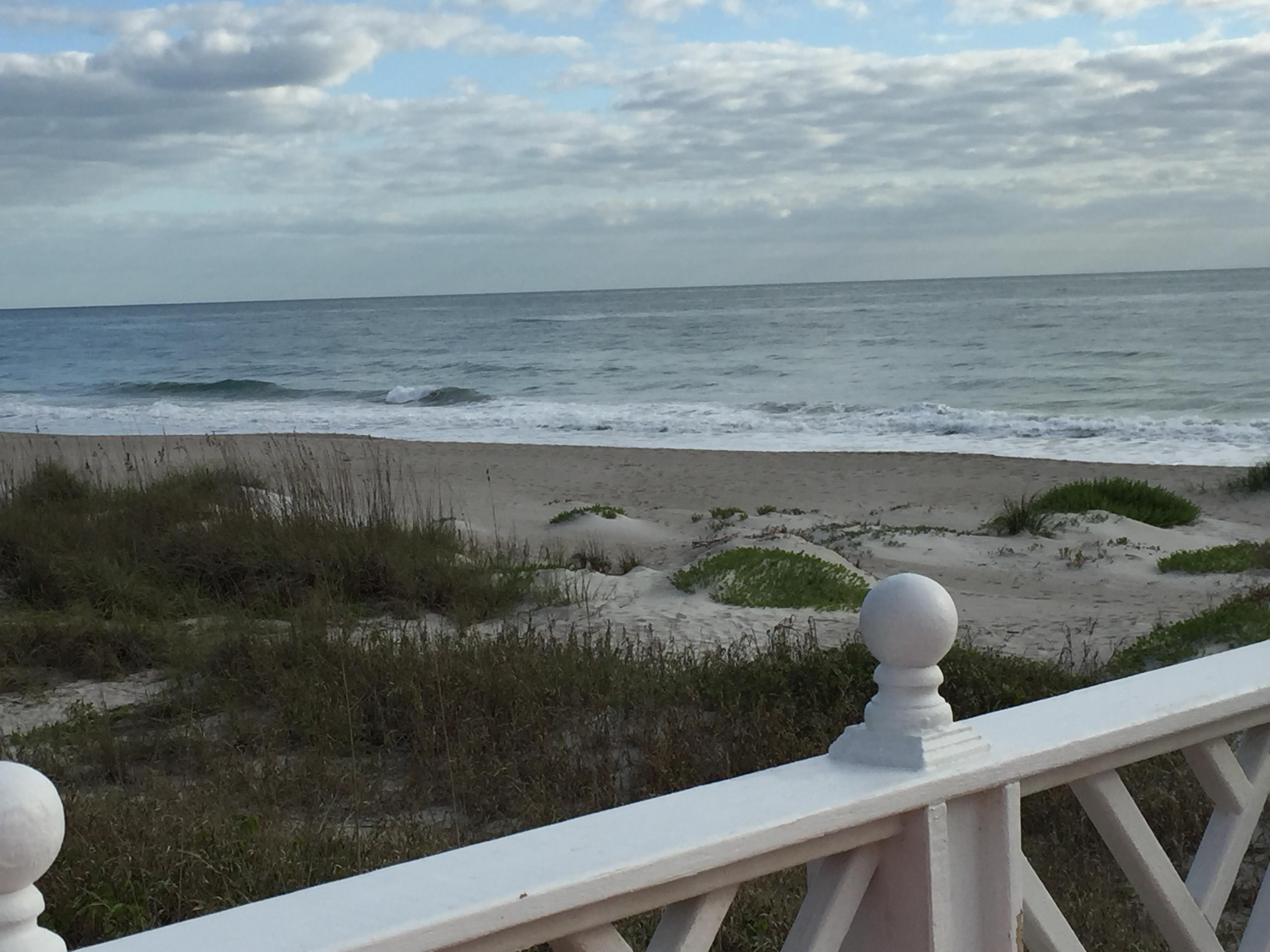 The back of the Inn from the gazebo on the beach