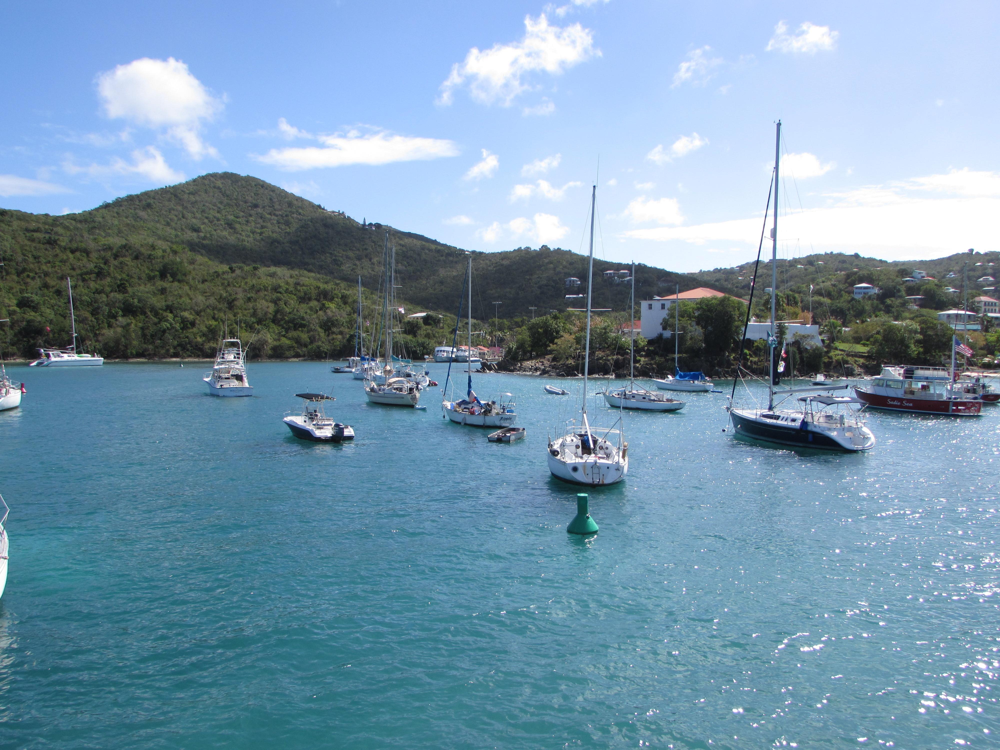 Approaching St. John via ferry