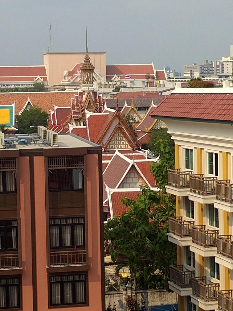 View from rooftop on Wat Chana Sonkhram