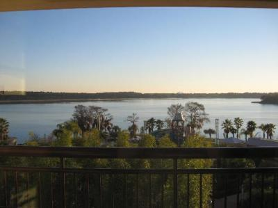 View of Bay Lake from our balcony (Bay Lake Tower)