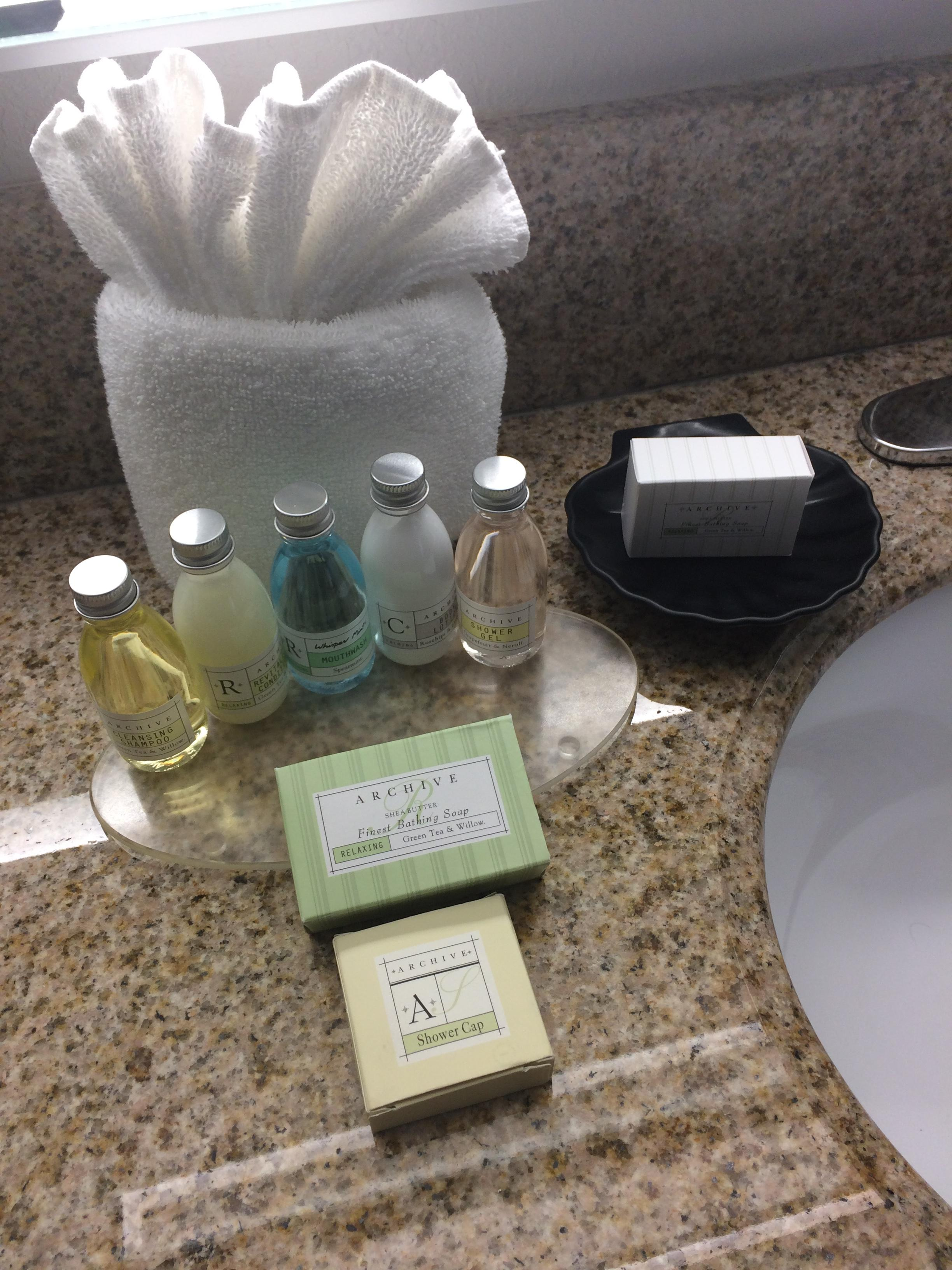 Impressive selection of complimentary soaps