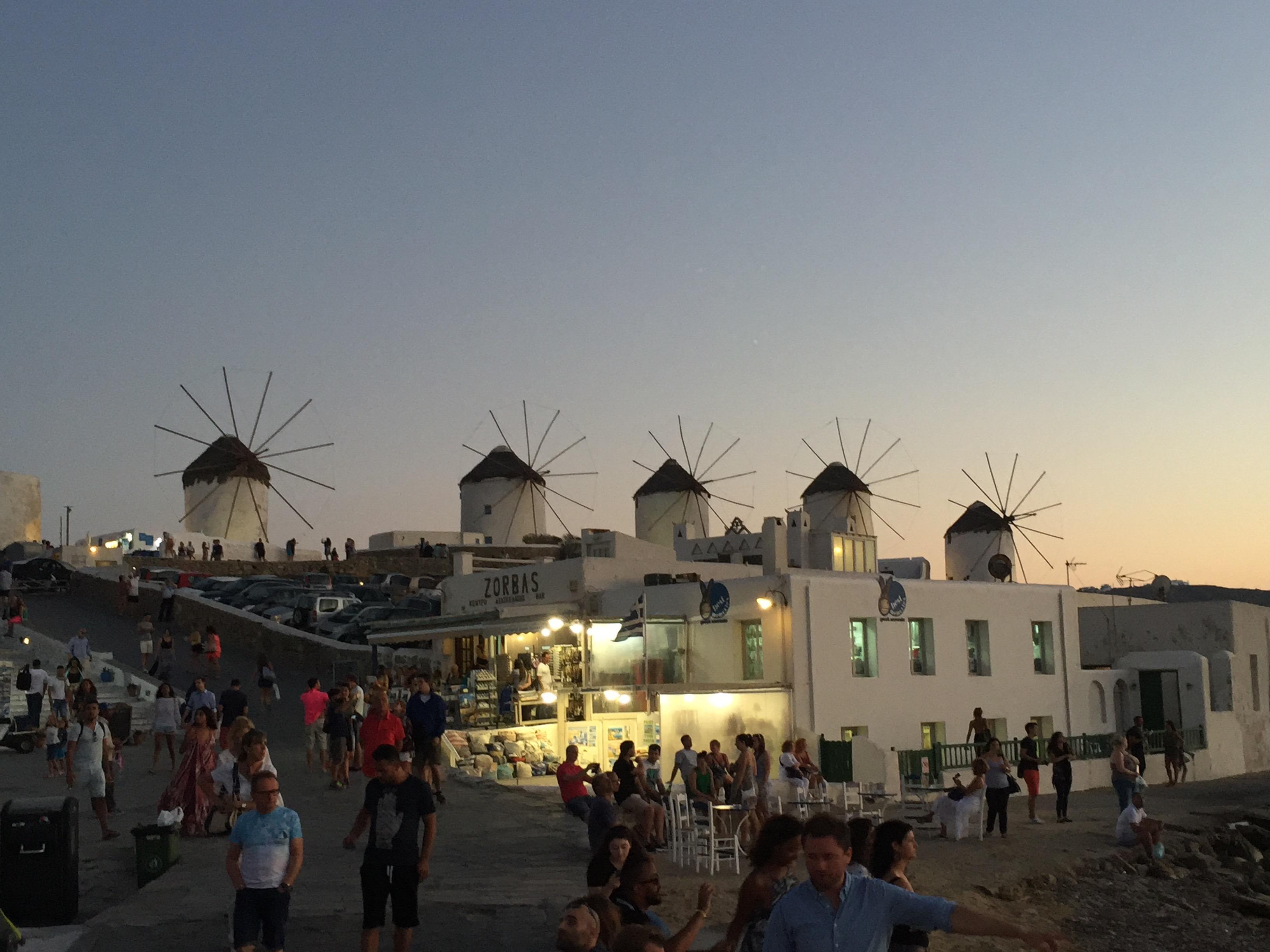 Windmills, Mykonos Town