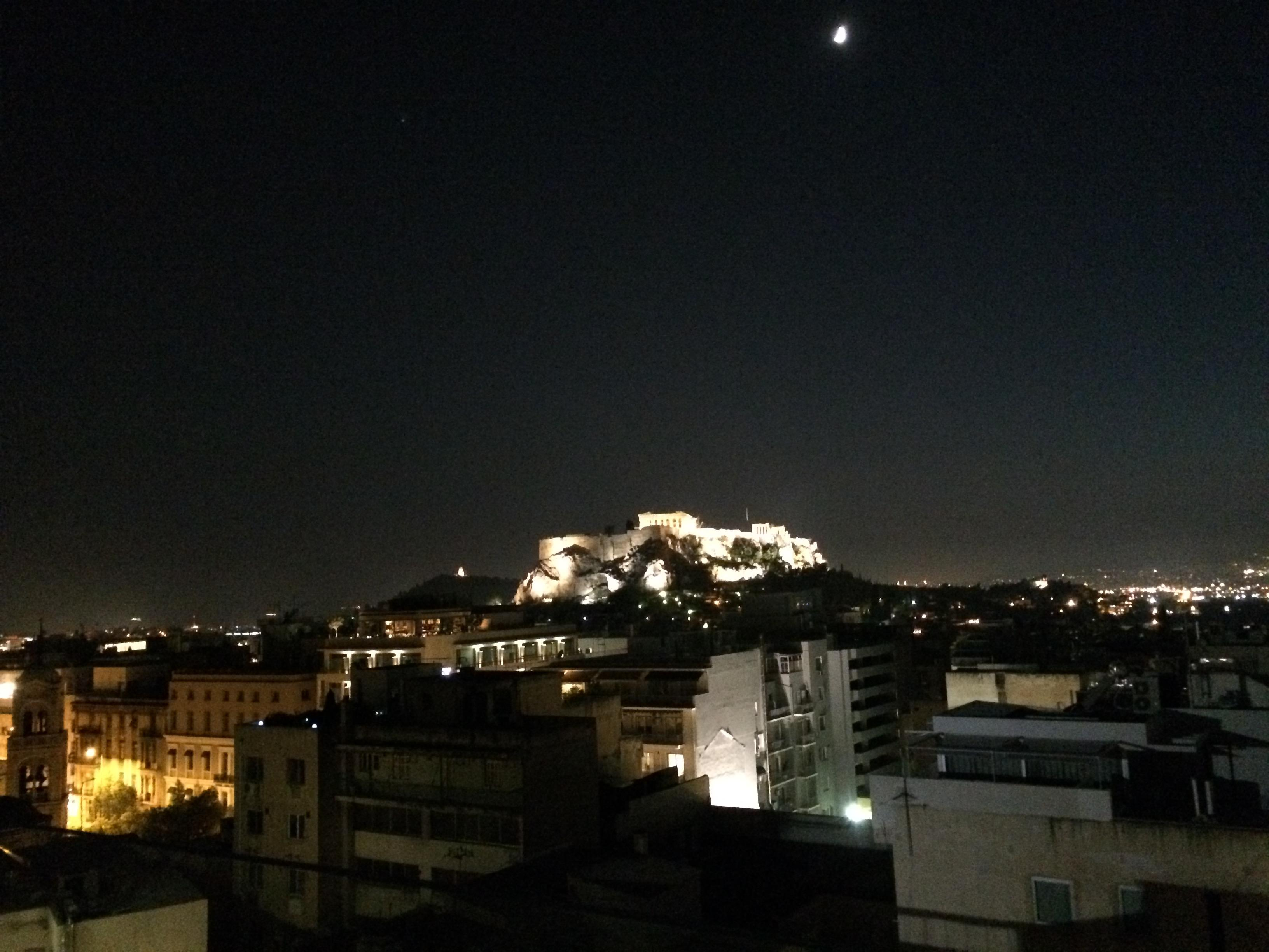 Roof lounge view, Acropolis