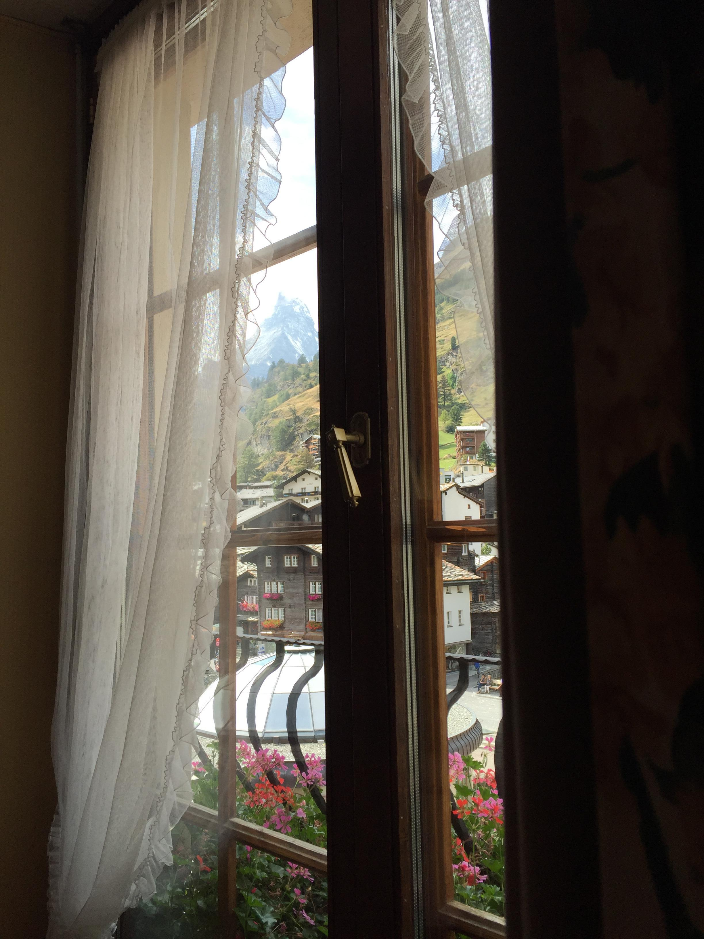 View from open window