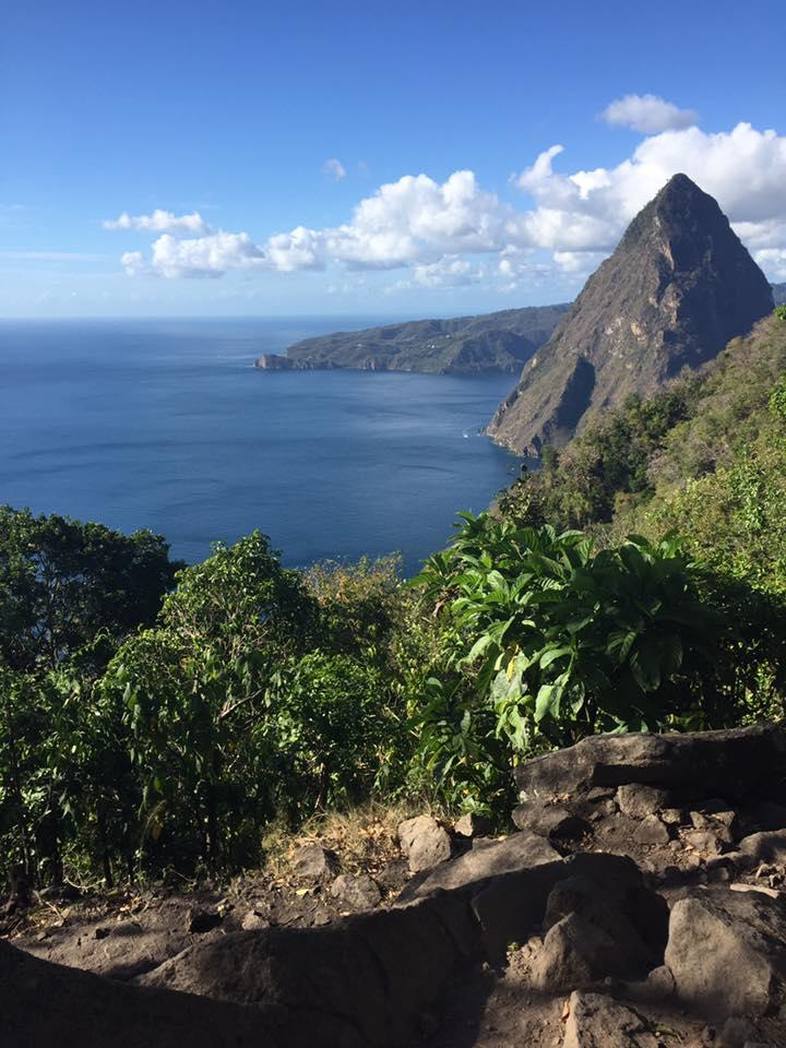View from the Gros Piton hike