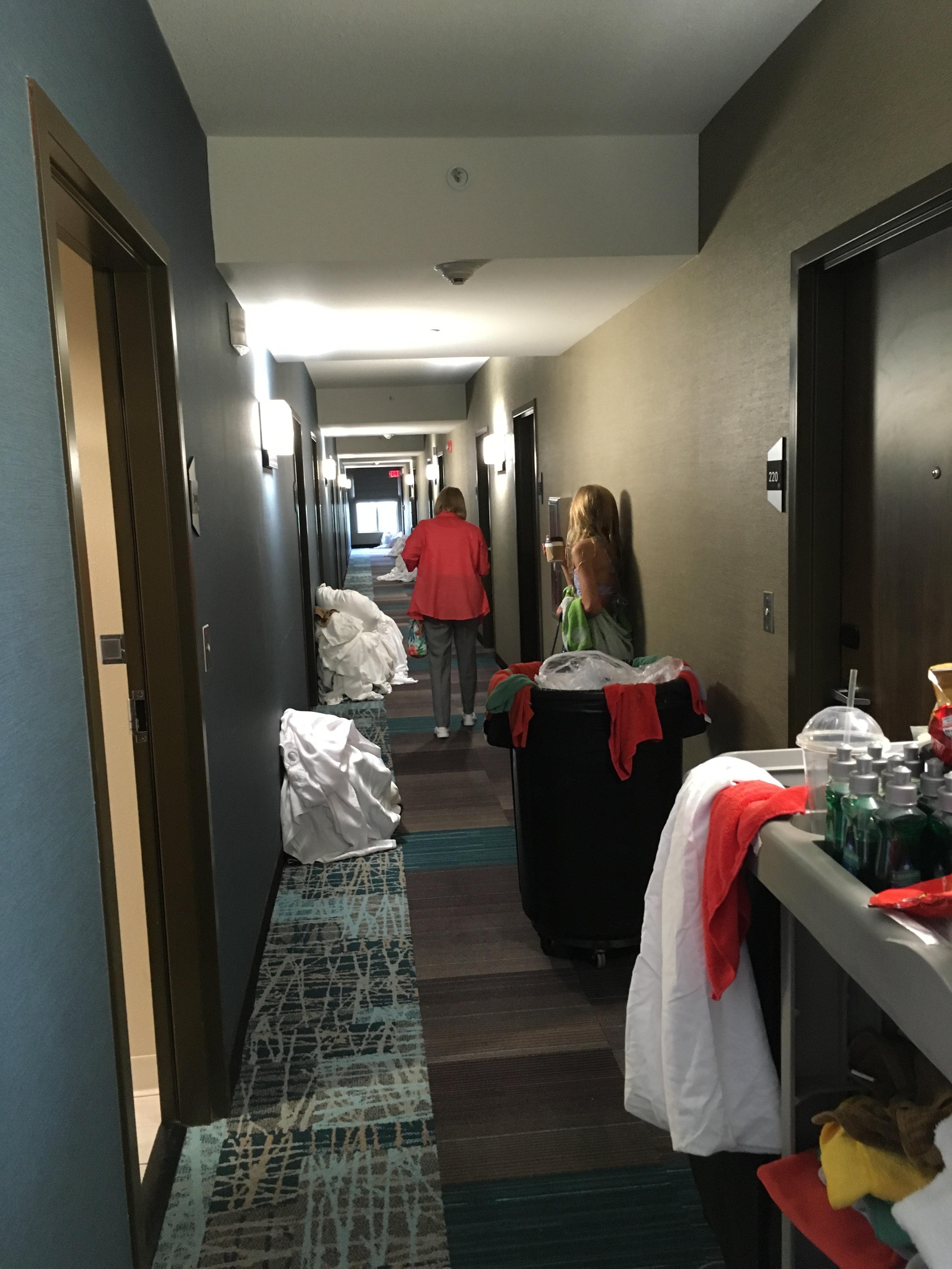 Hallway at 6pm