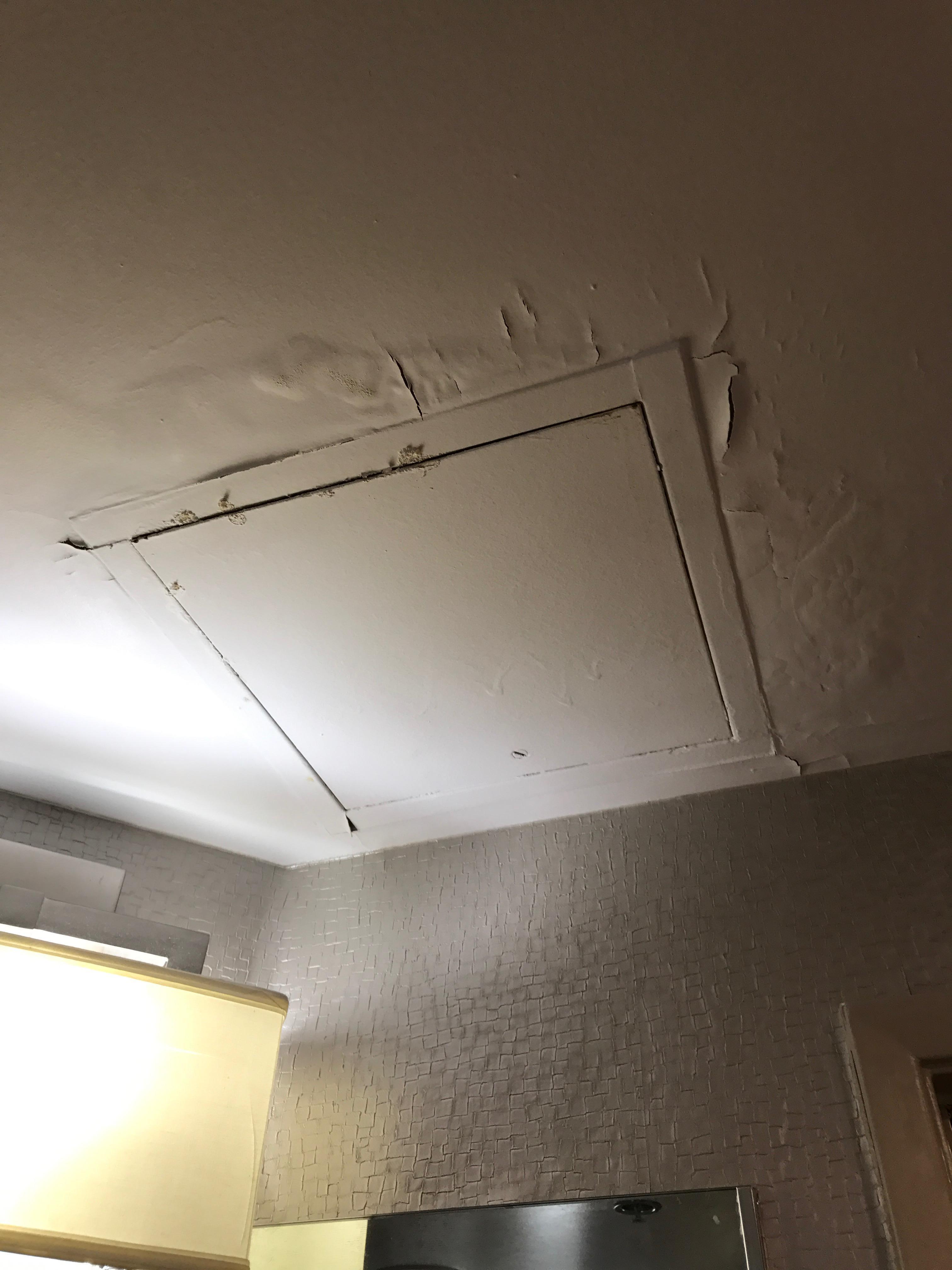 Peeling Bathroom Ceiling