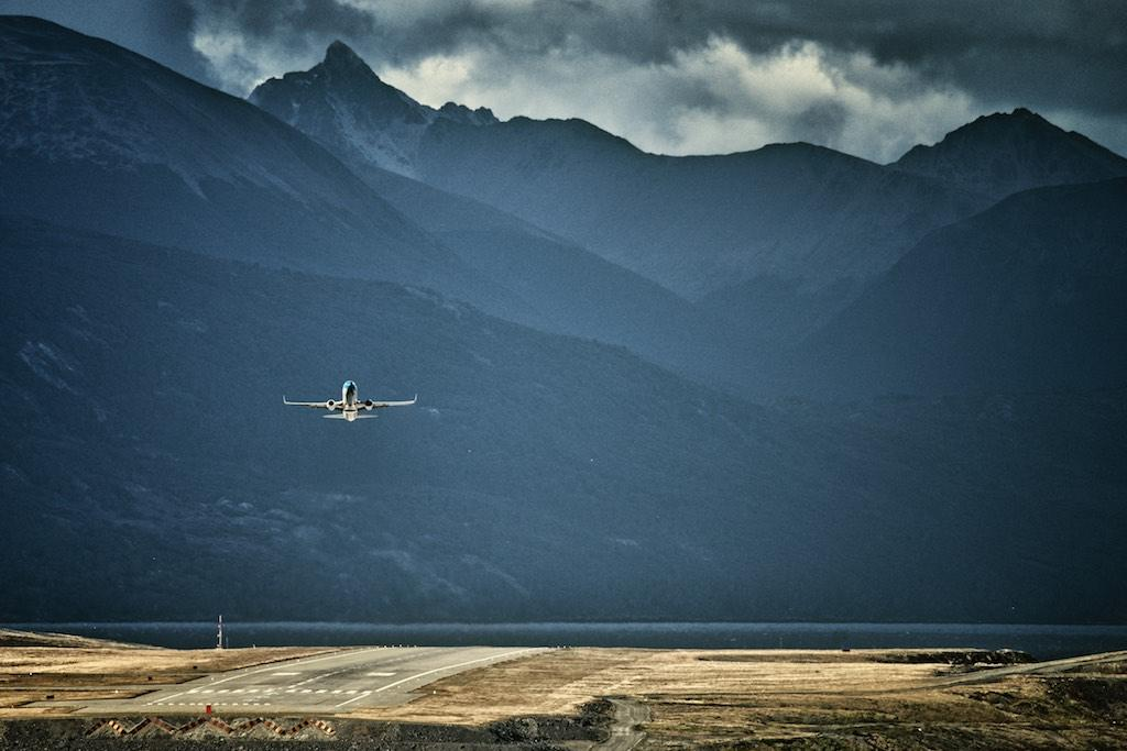 Ushuaia airport from my balcony