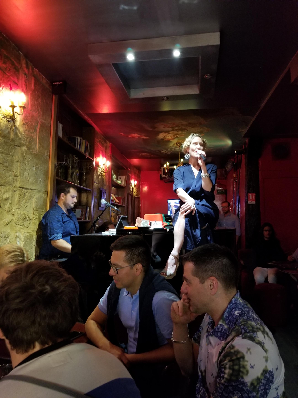 Singer at Piano Bar/Bistro