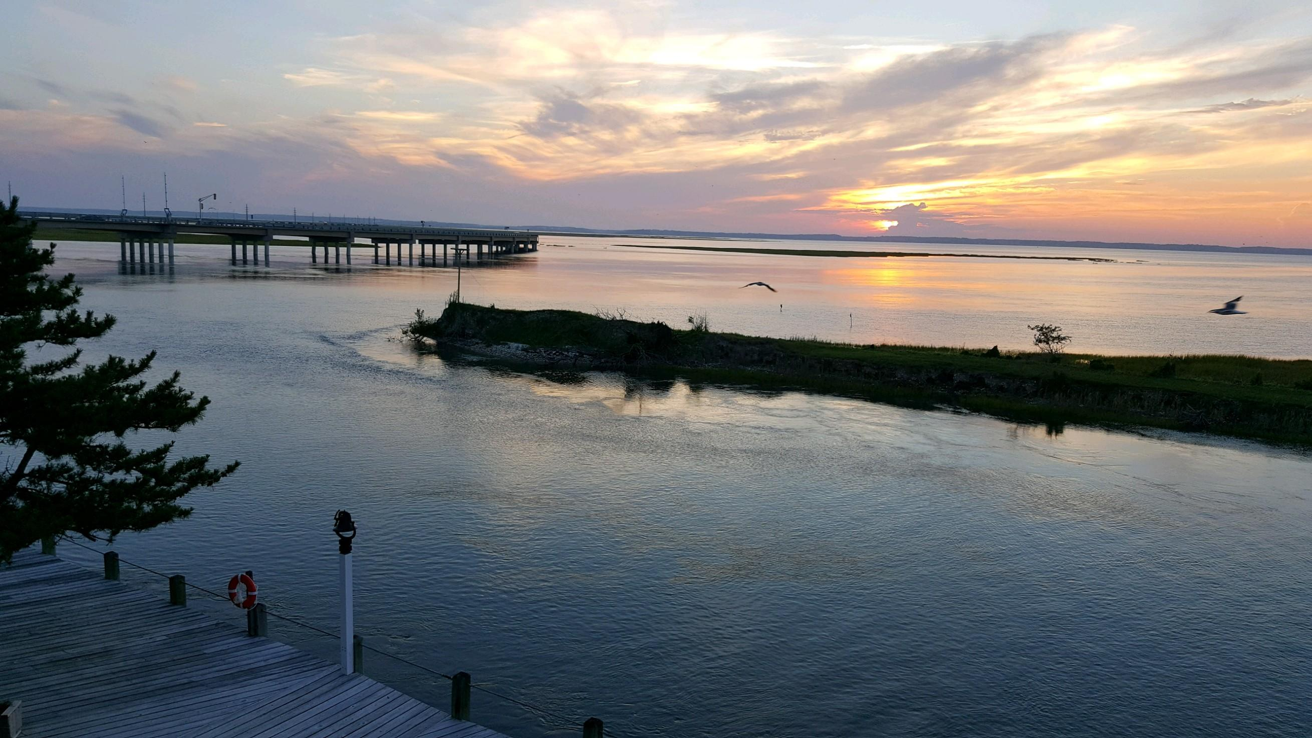 Sunset From Room Balcony Overlooking The Bay