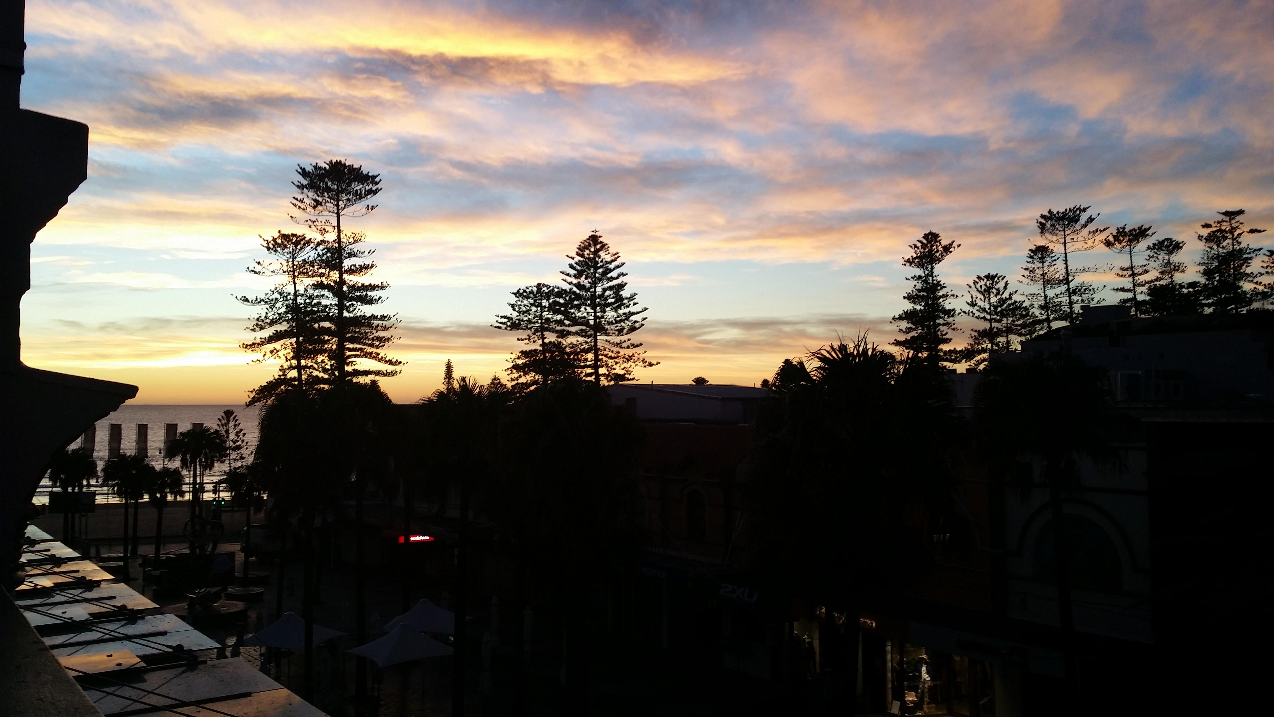 Sunrise from balcony 2016 05 12